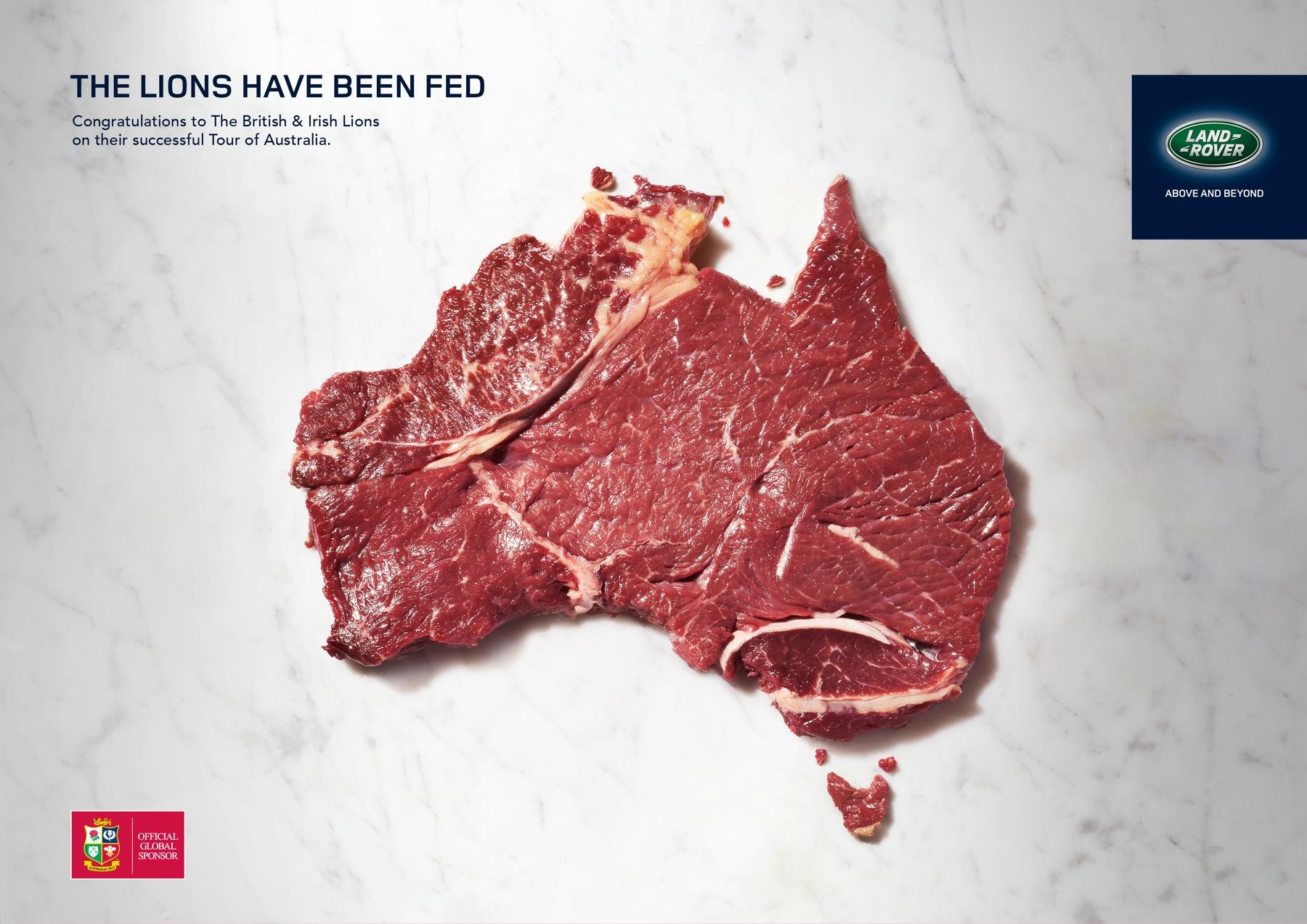 Land Rover Print Ad -  Meat landscape