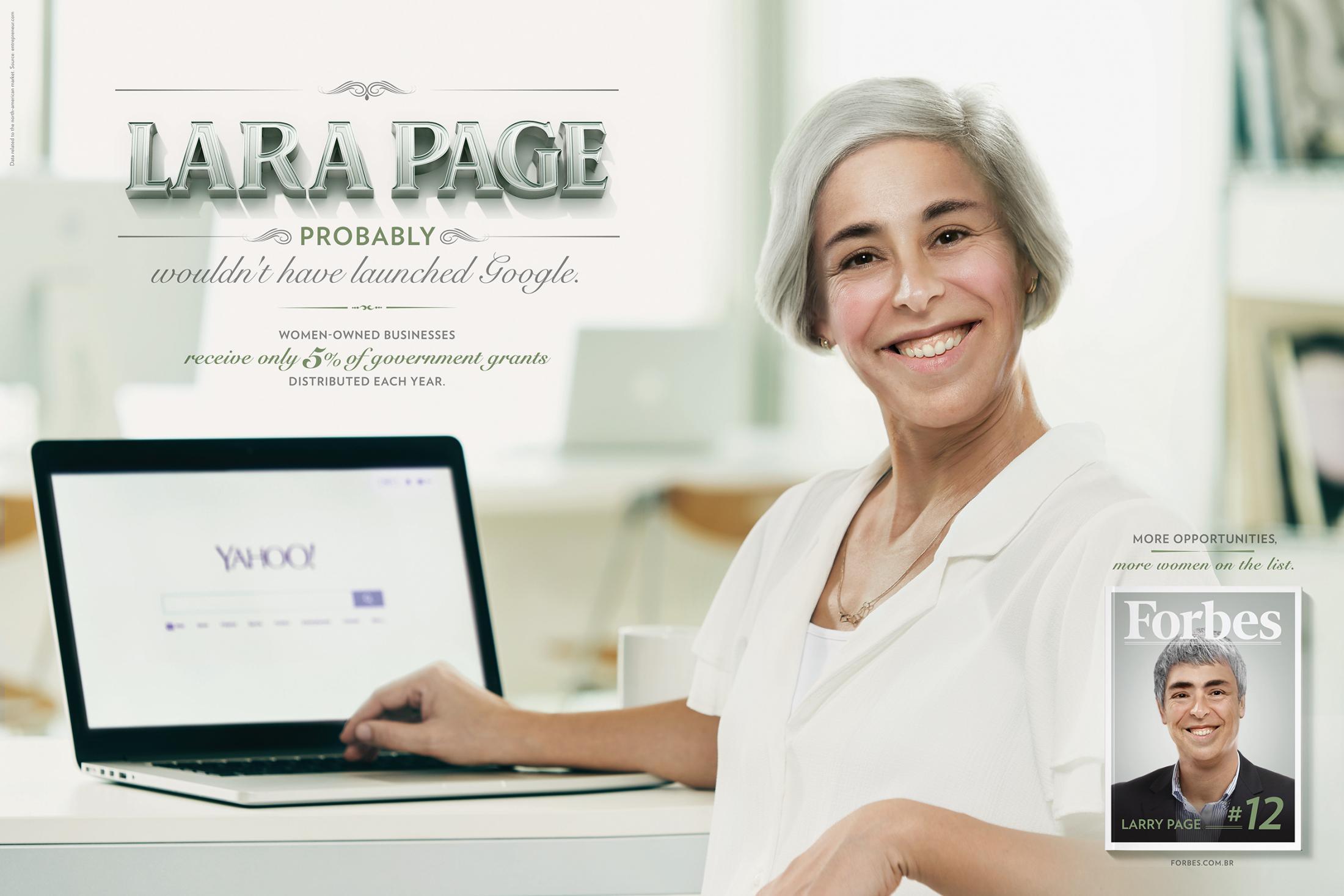 Forbes Print Ad - Lara Page
