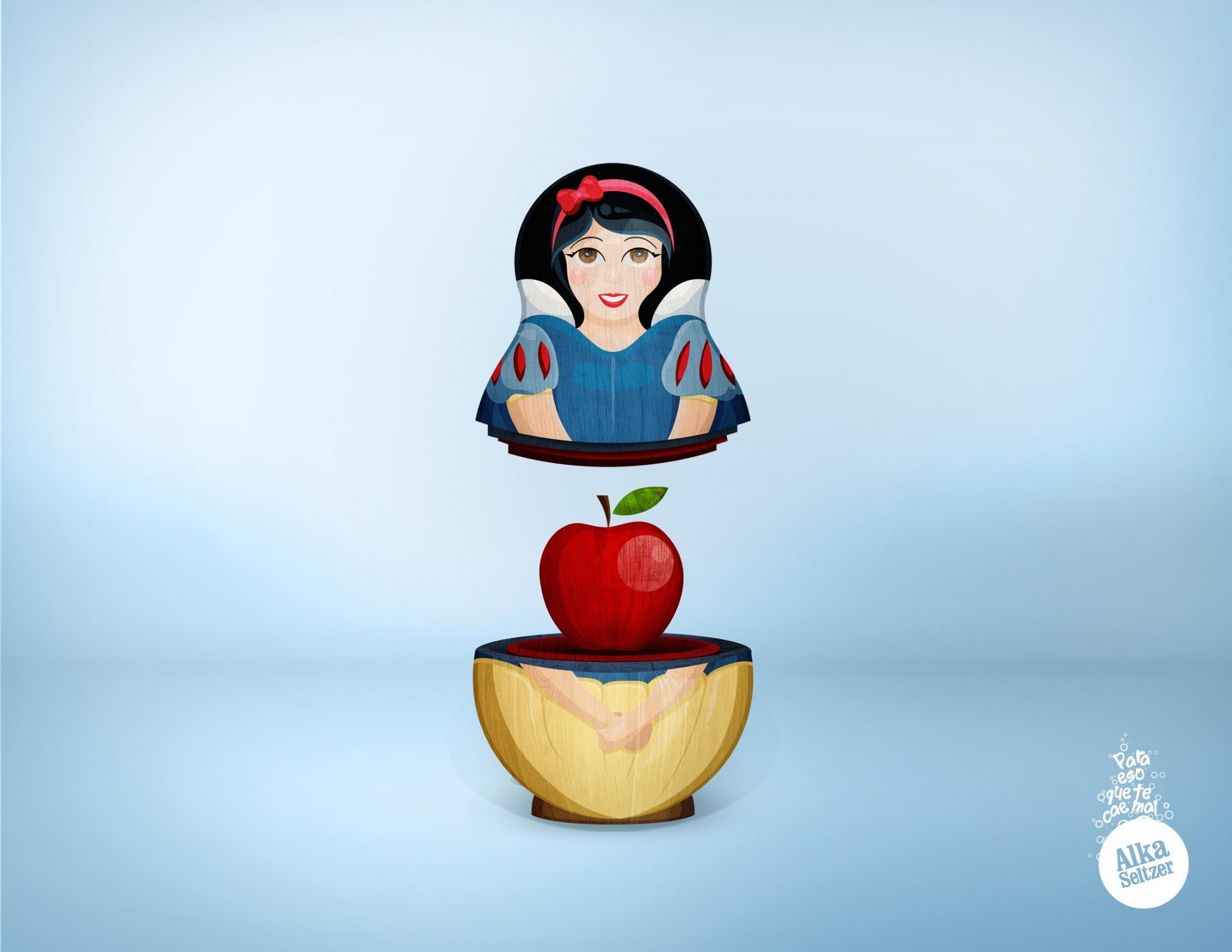 Alka Seltzer Print Ad -  Apple