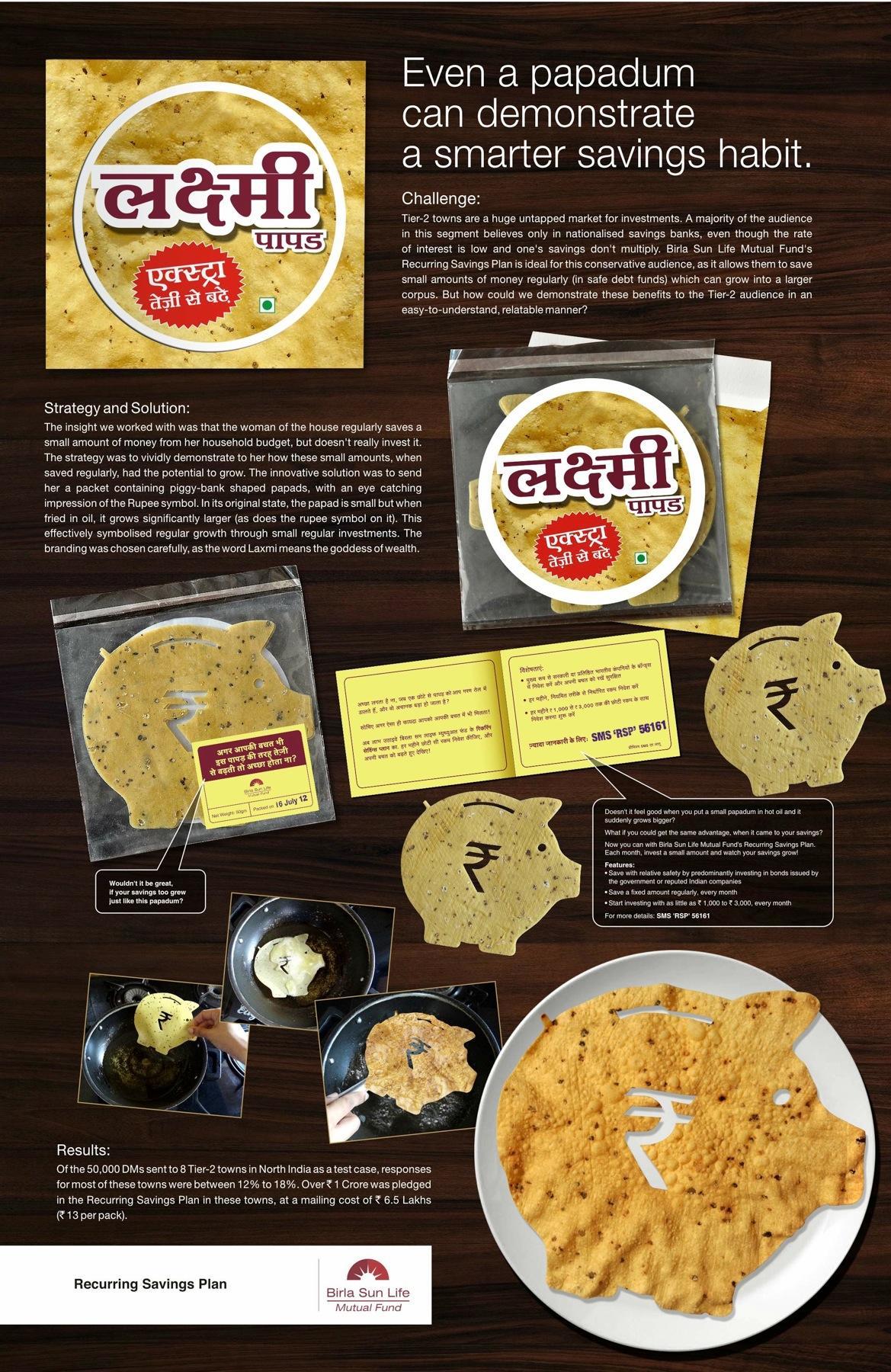 Birla Sun Life Direct Ad -  Laxmi Papad