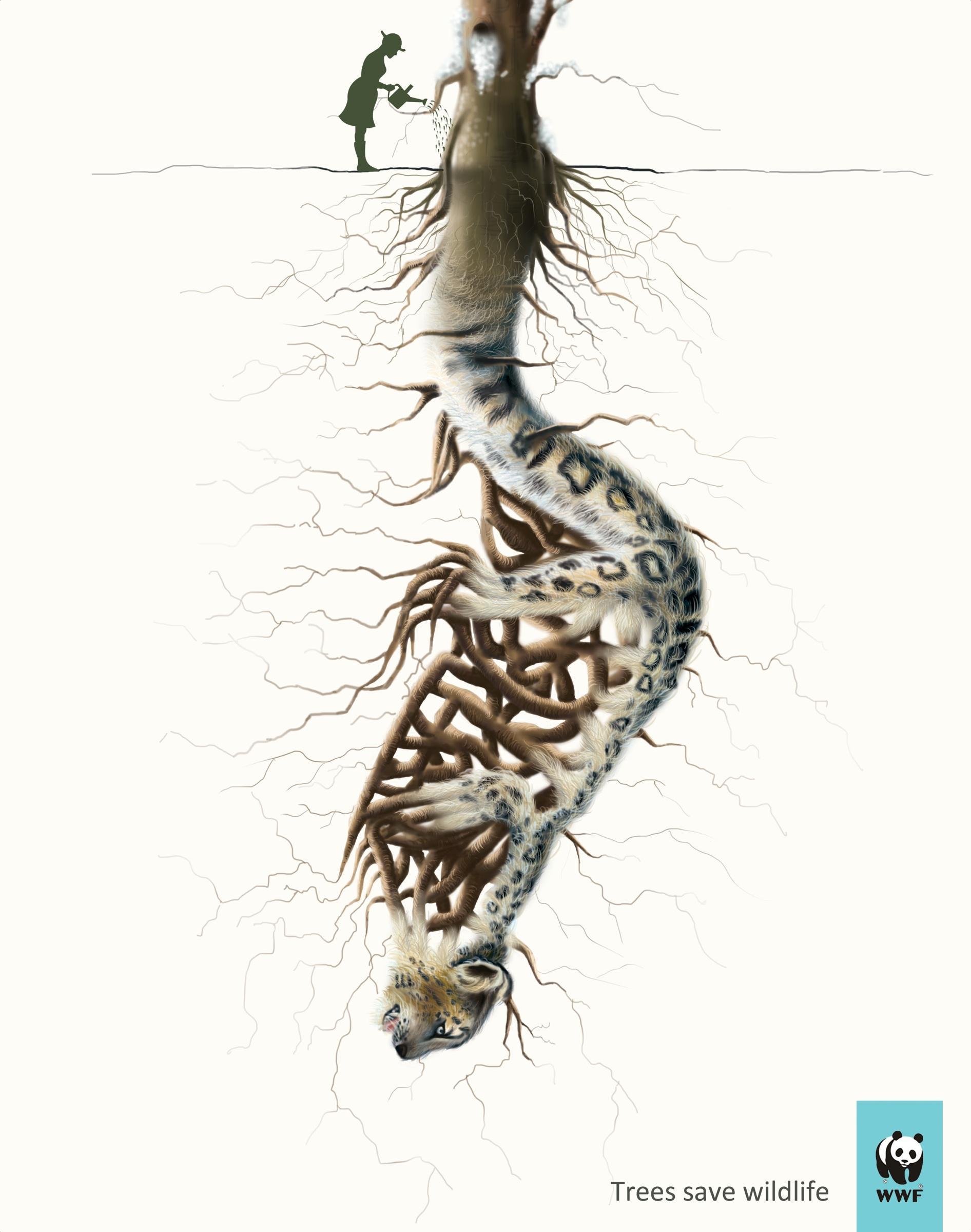 WWF Print Ad -  Leopard