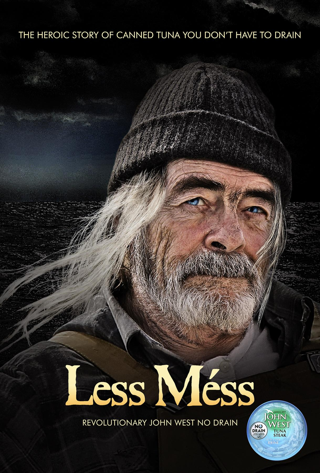John West Print Ad -  Less Mess