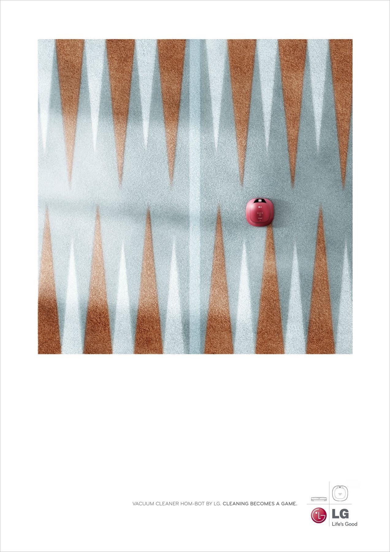 LG Print Ad -  Backgammon