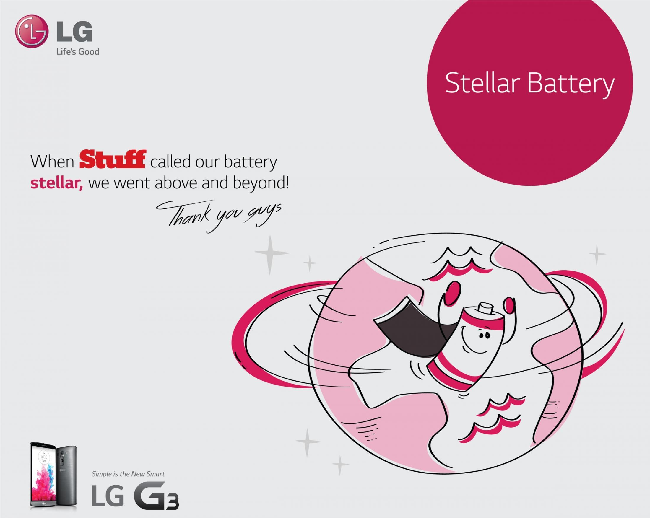 LG Print Ad -  Stellar battery