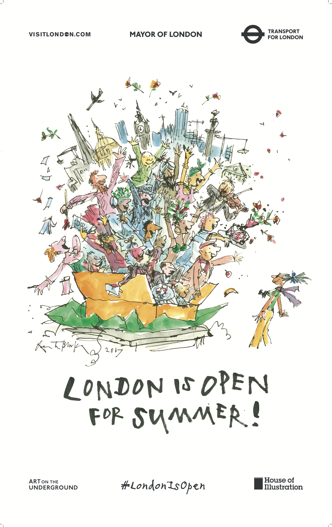 Mayors Office London Outdoor Ad - #LondonIsOpen for Summer