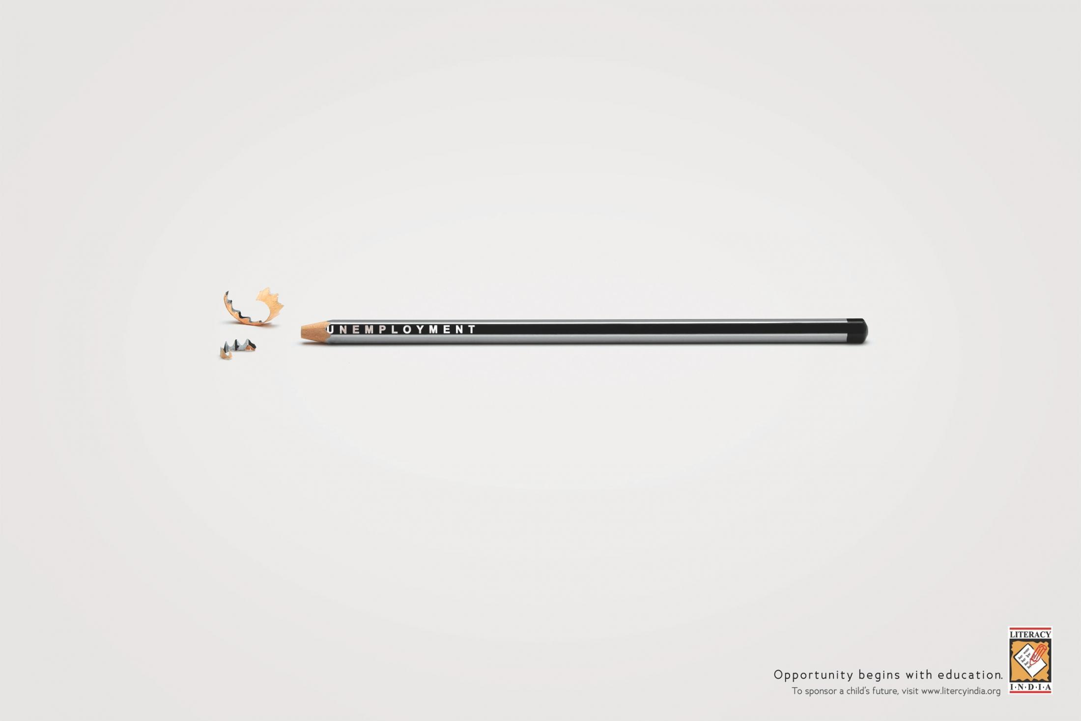 Literacy India Print Ad -  Pencil