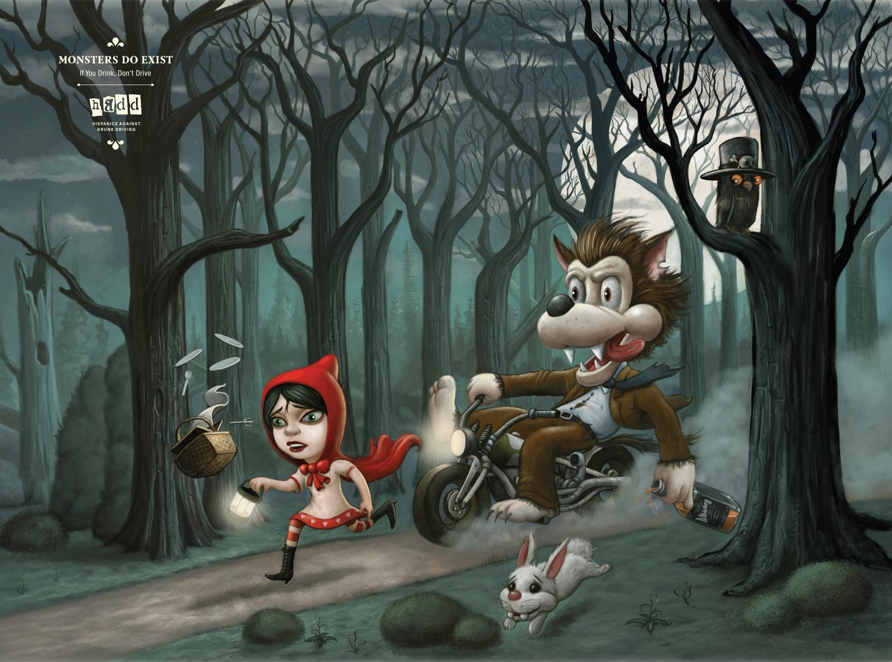 HADD Print Ad -  Little Red Riding Hood