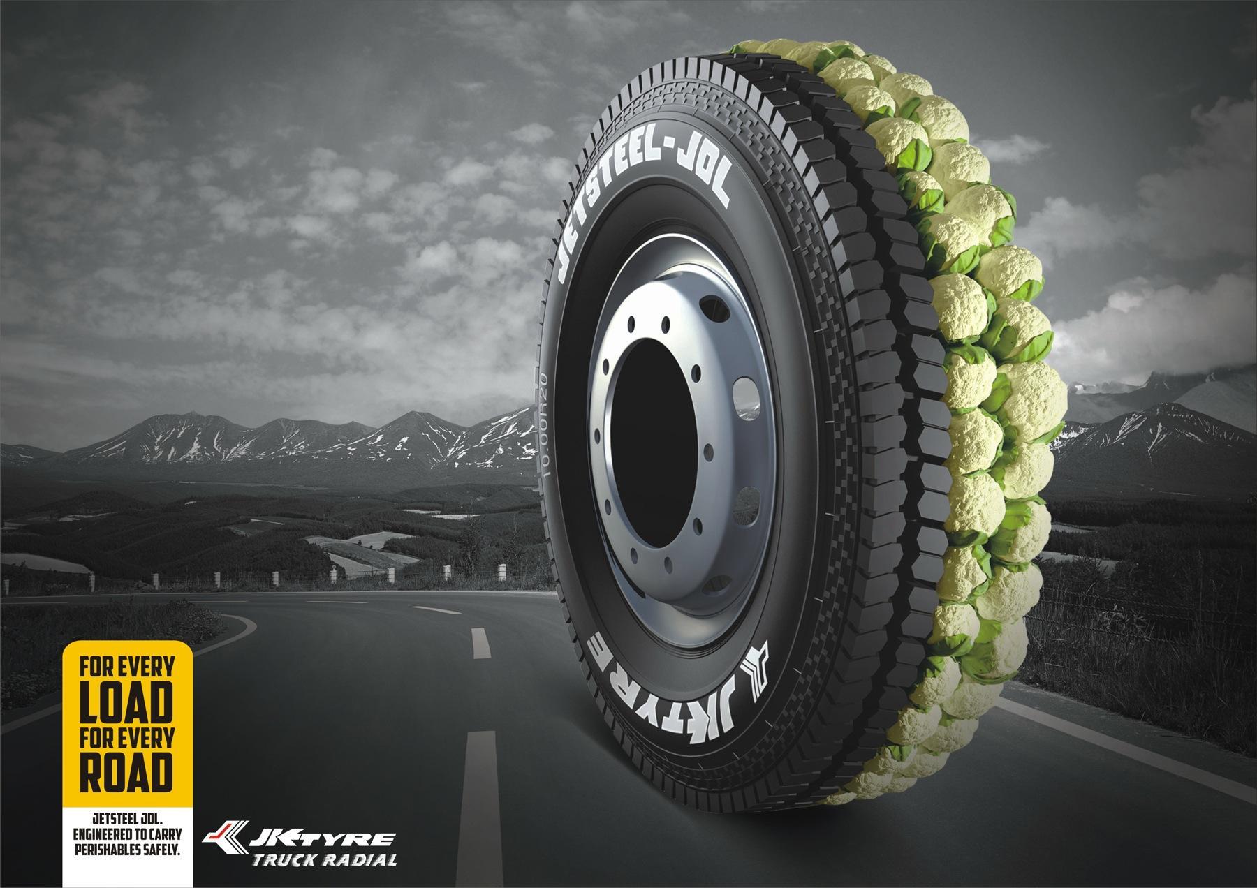 JK Tyre Print Ad -  Cauliflowers
