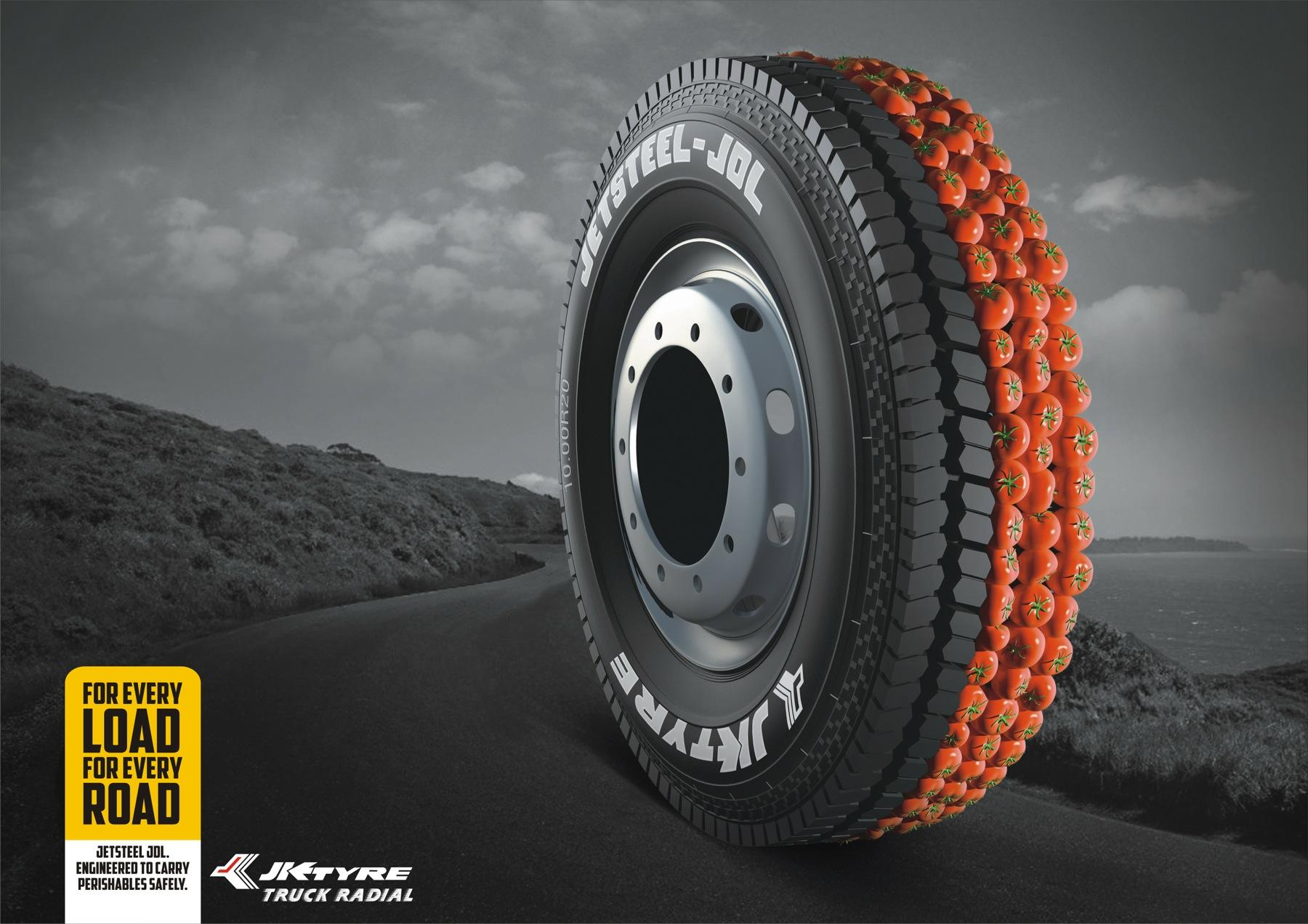 JK Tyre Print Ad -  Tomatoes