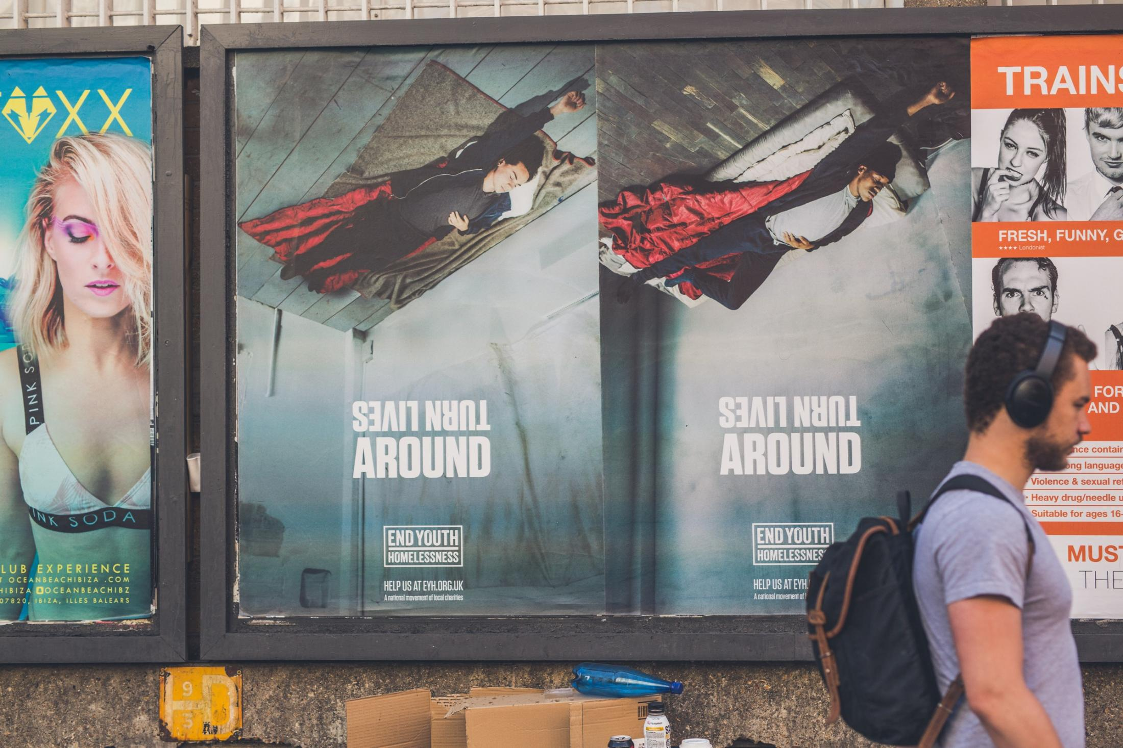 End Youth Homelessness Outdoor Ad - Turn Lives Around, 1
