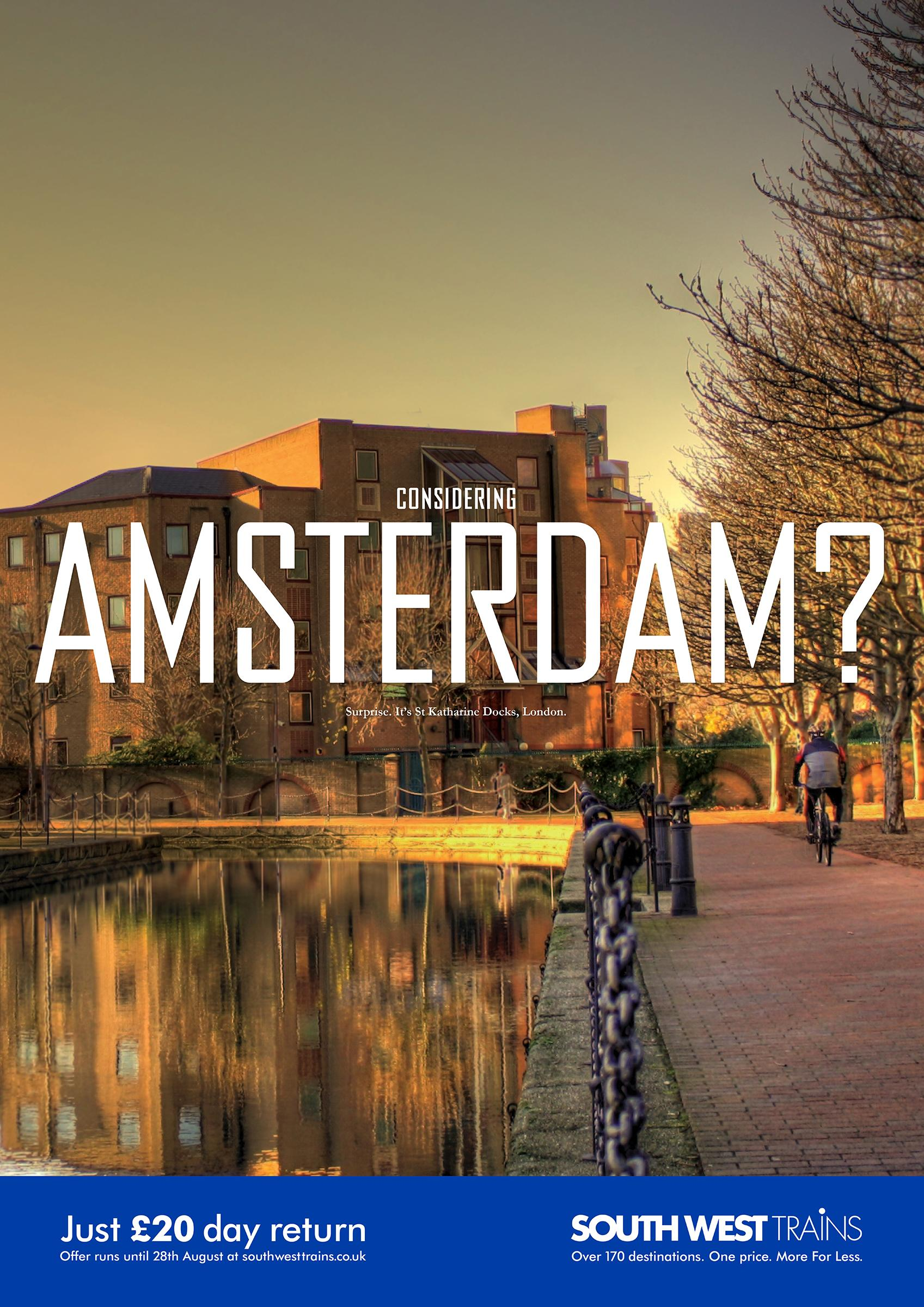 South West Trains Print Ad -  Look closer - Amsterdam