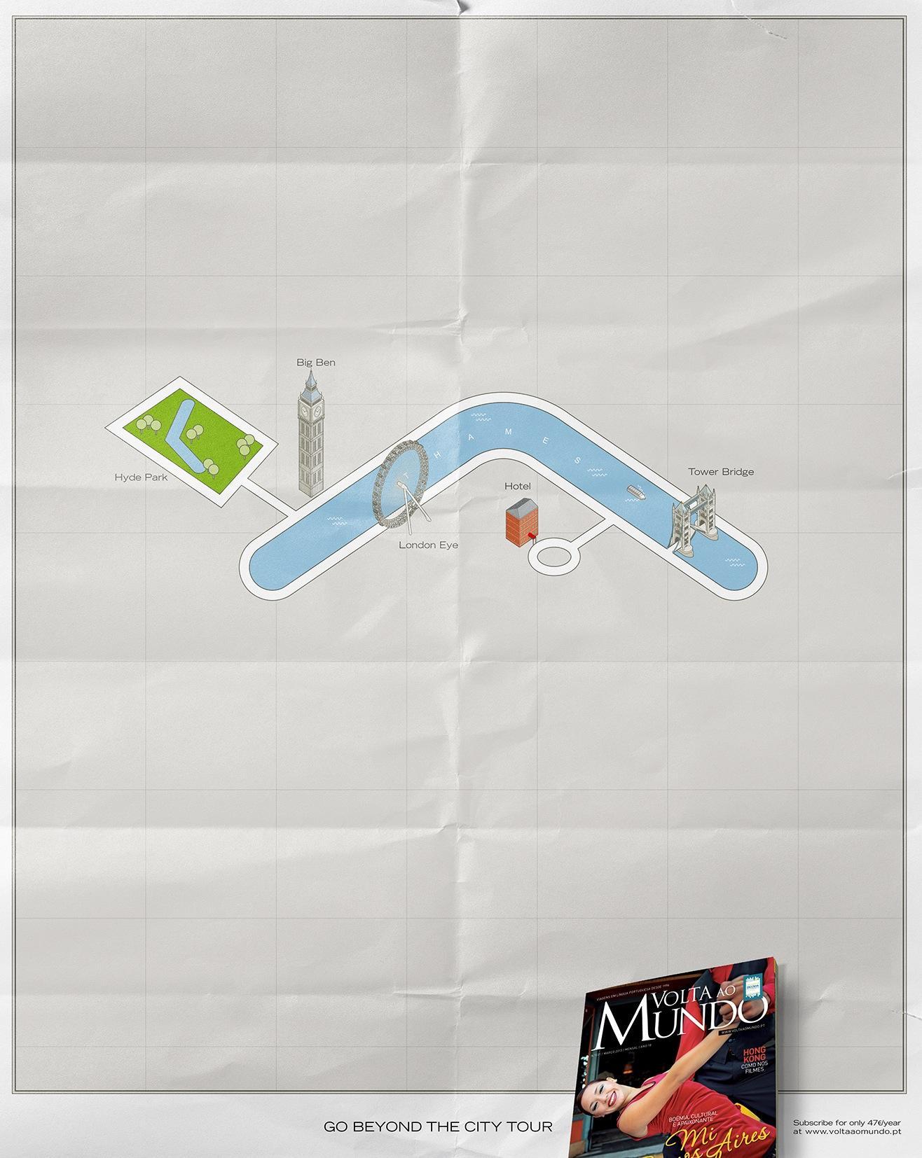 Volta Ao Mundo Print Ad -  London