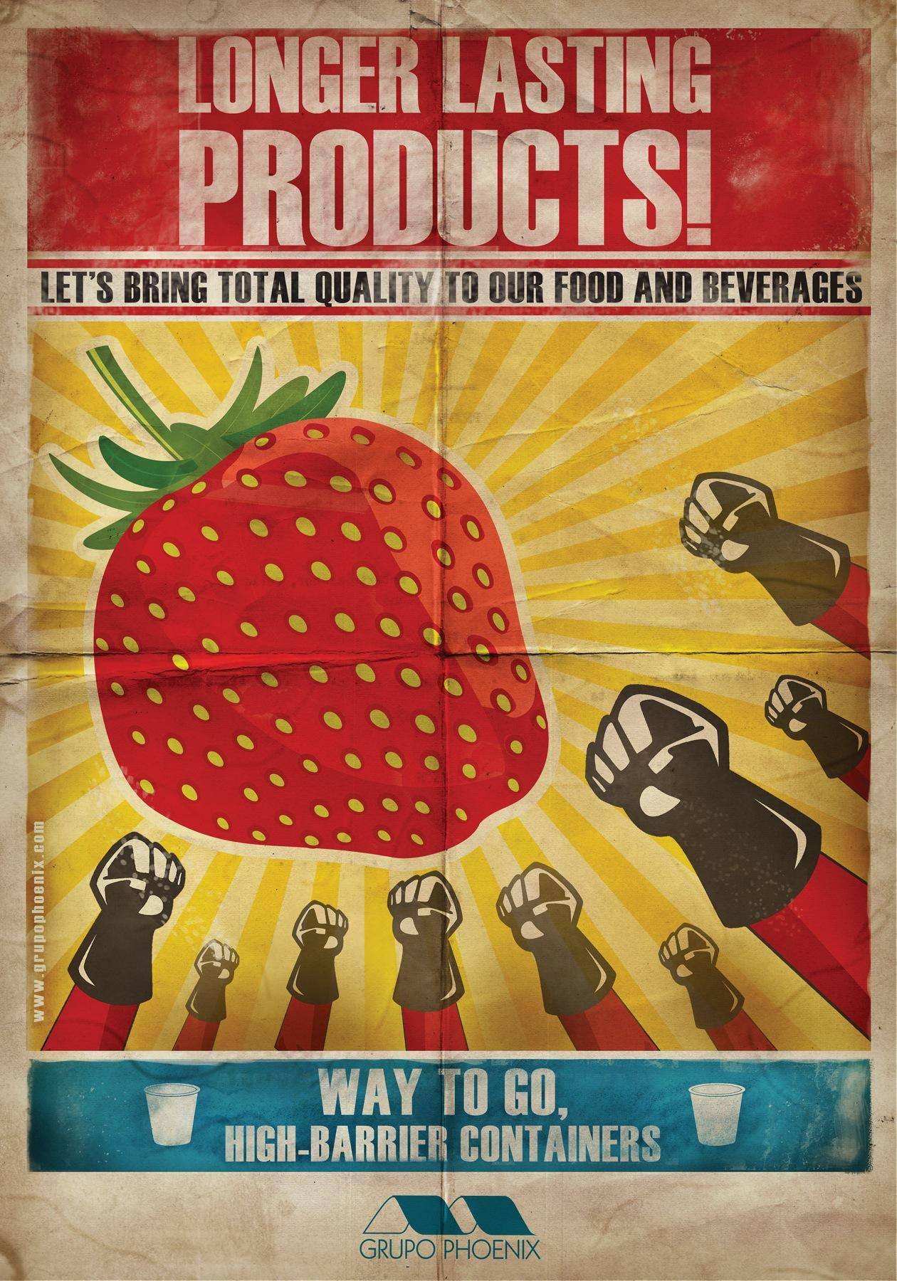 Grupo Phoenix Print Ad -  Strawberry