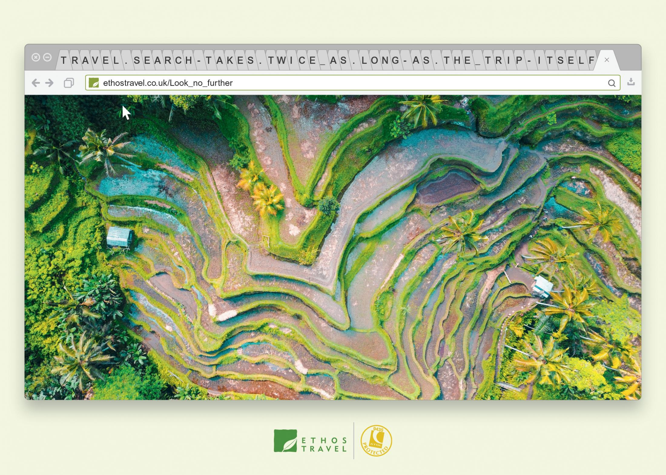 Ethos Travel Print Ad - Rice Field