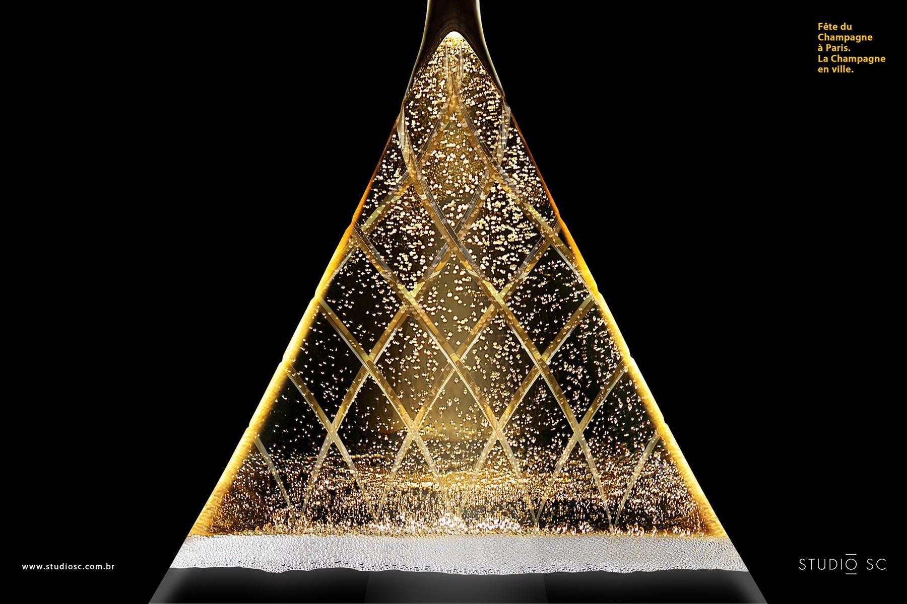 Paris Champagne Festival Print Ad -  Louvre