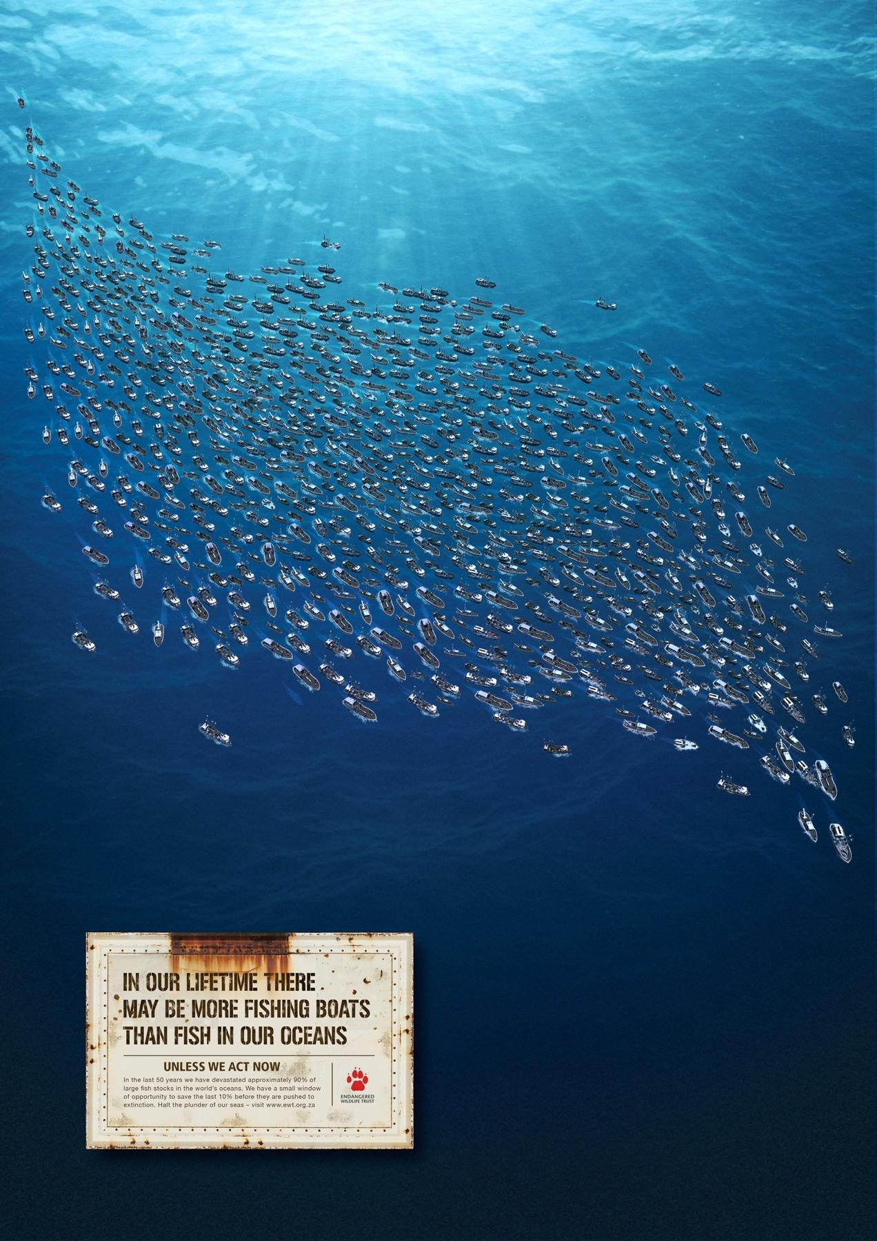 Endangered Wildlife Trust Print Ad -  Fishing Boats