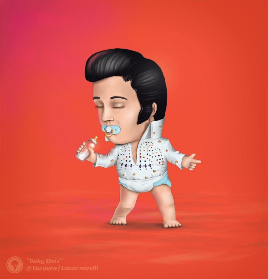 Lucas Savelli Print Ad -  Baby Style, Elvis