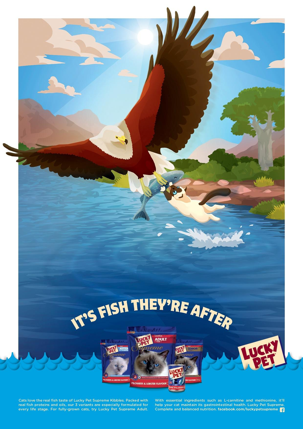 Lucky Pet Print Ad -  Eagle