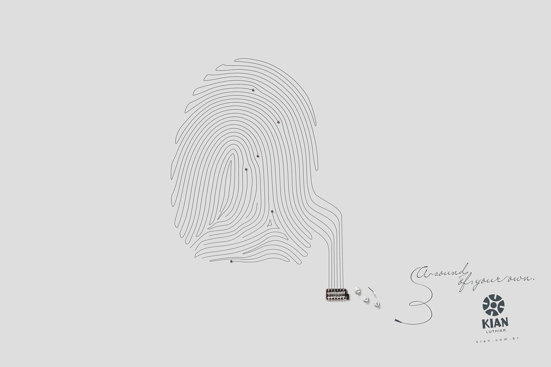 Kian Luthier Print Ad -  Fingerprint, 1