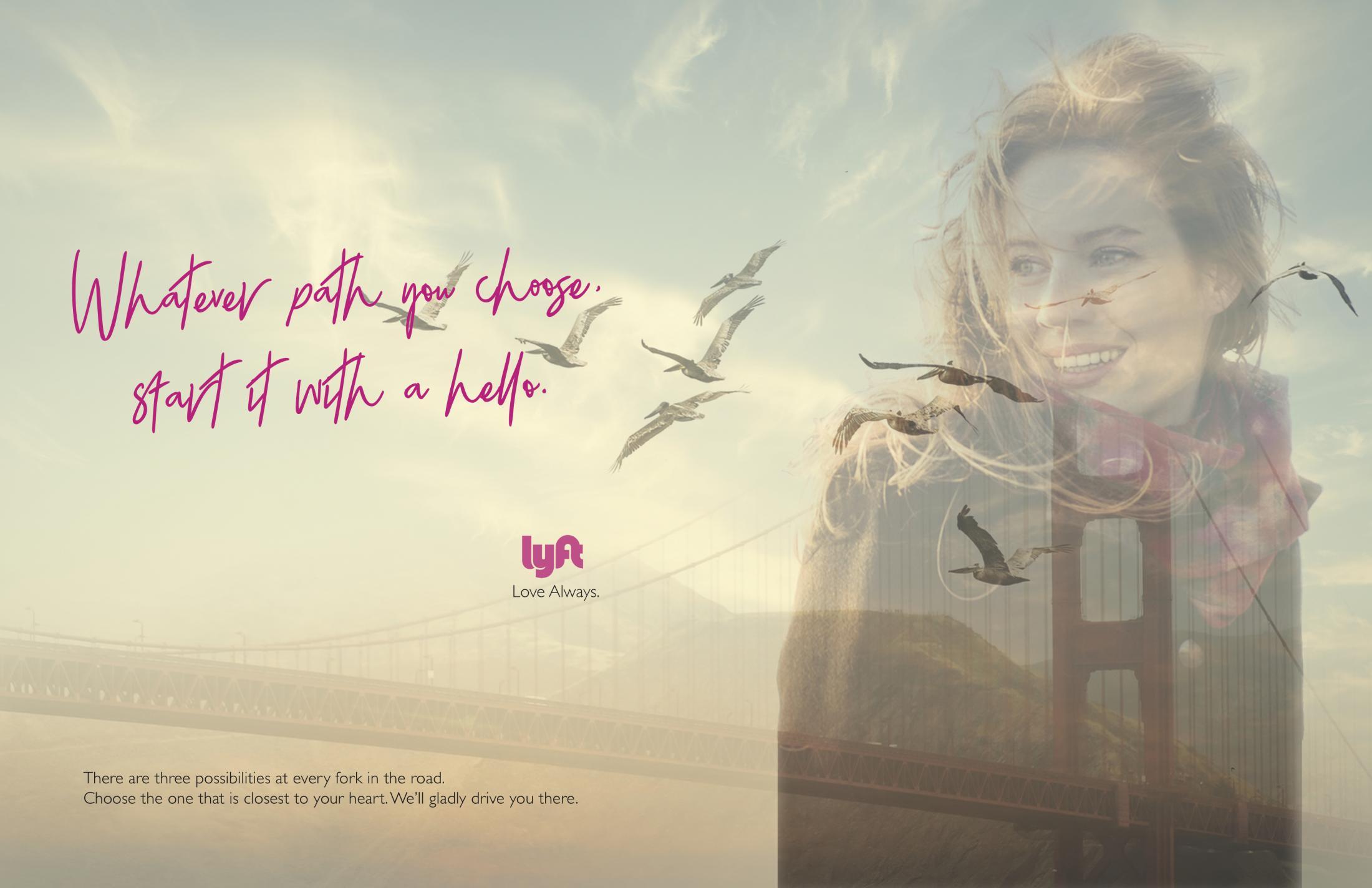 Lyft Print Ad - Love always, 1
