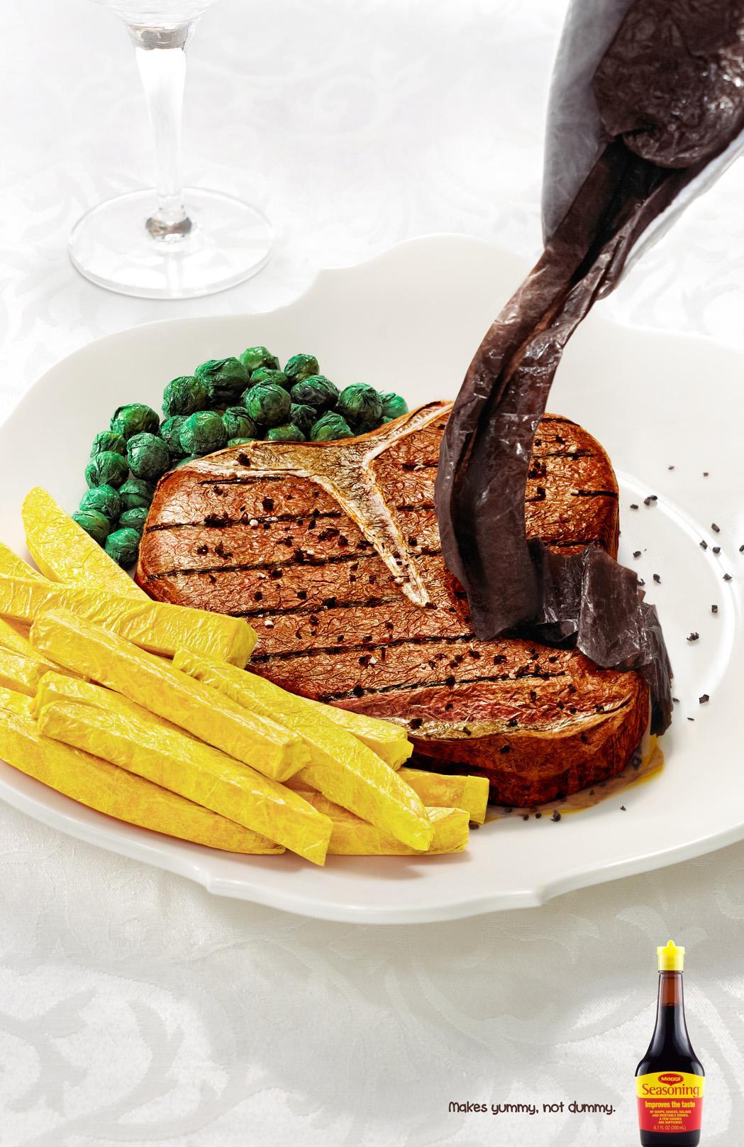Maggi Print Ad -  Paper Steak