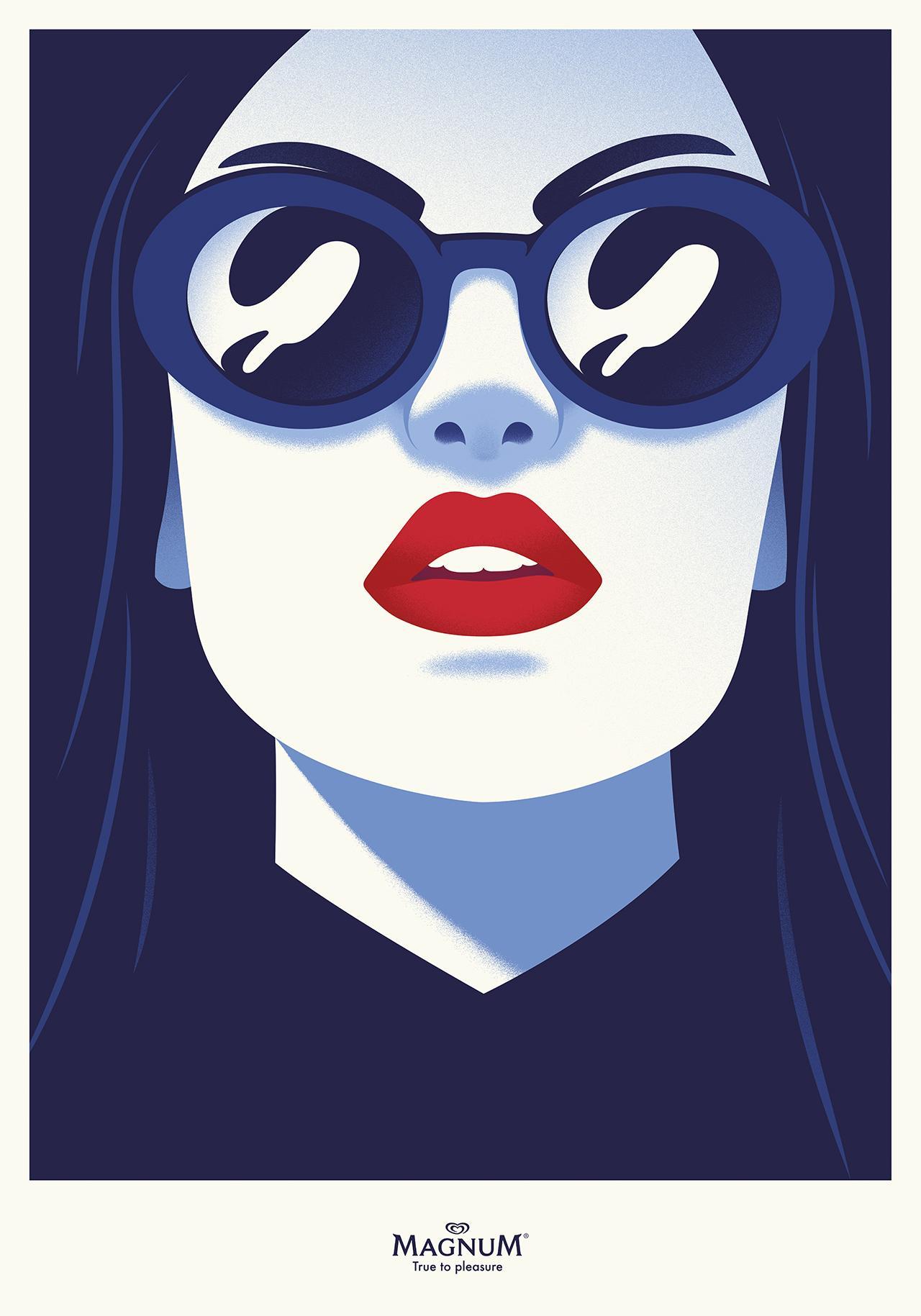Magnum Outdoor Ad - Pleasure Icon, Sunglasses