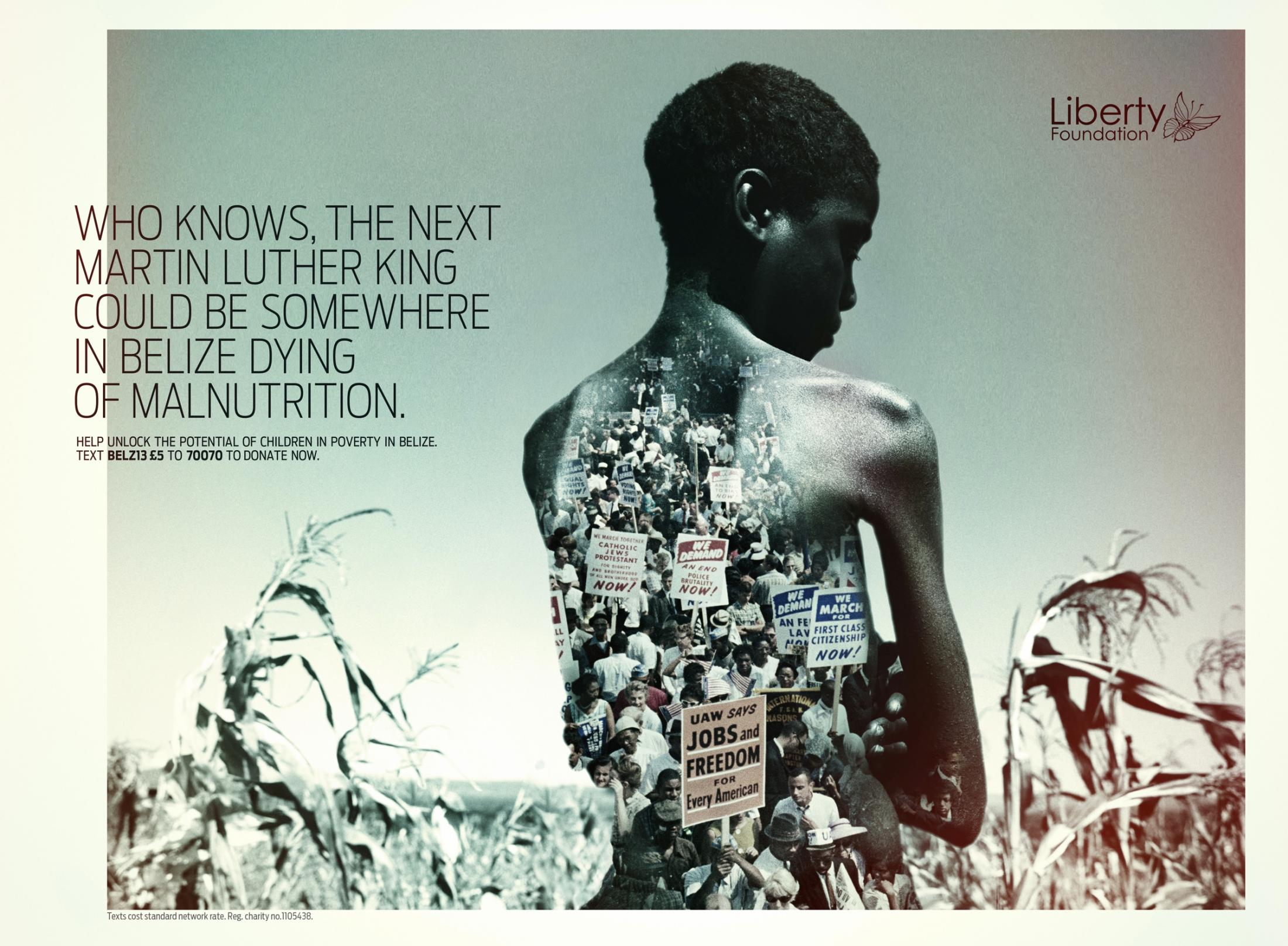 Liberty Foundation Print Ad -  Malnutrition