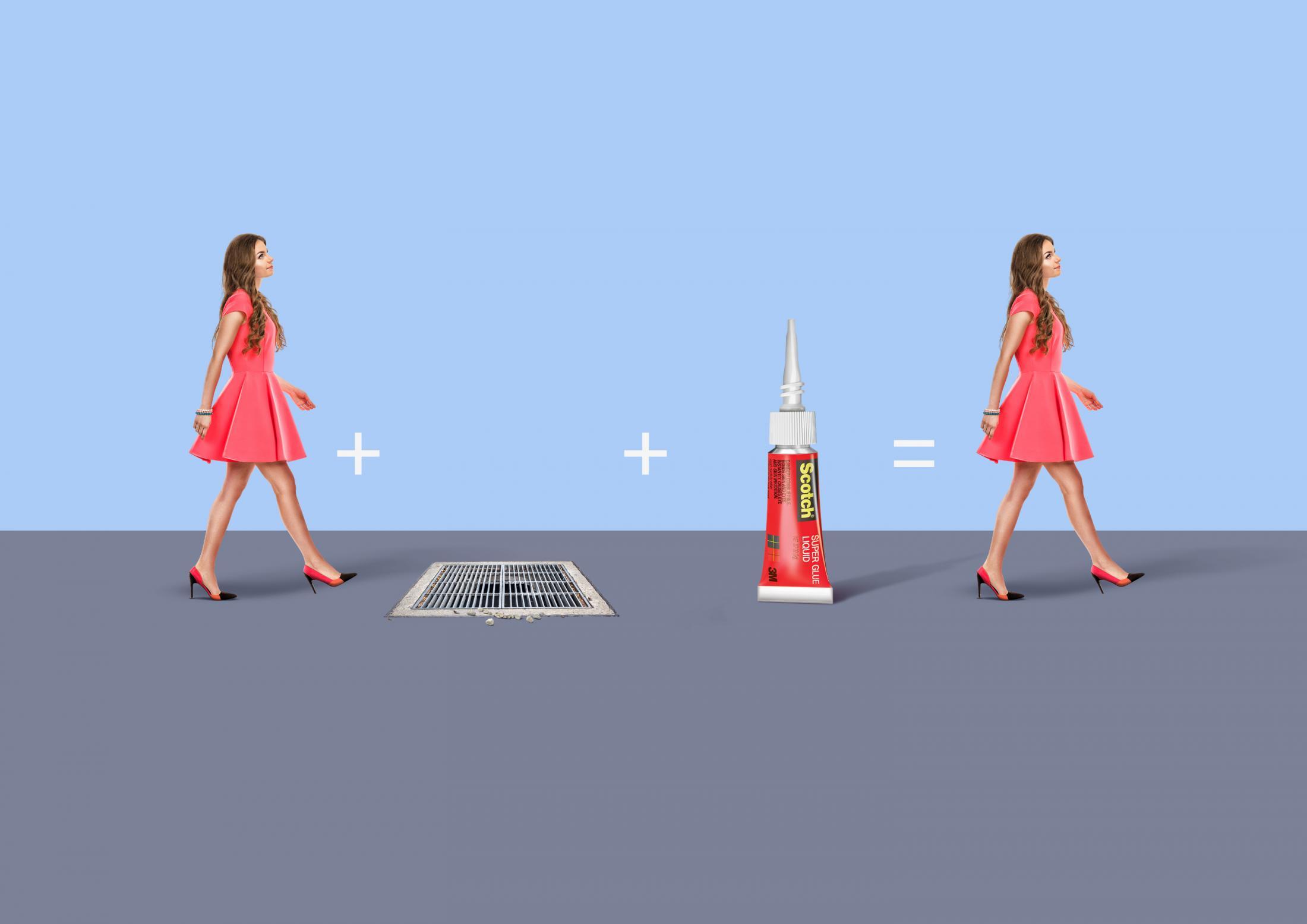 3M Print Ad - The quick fix - Manhole