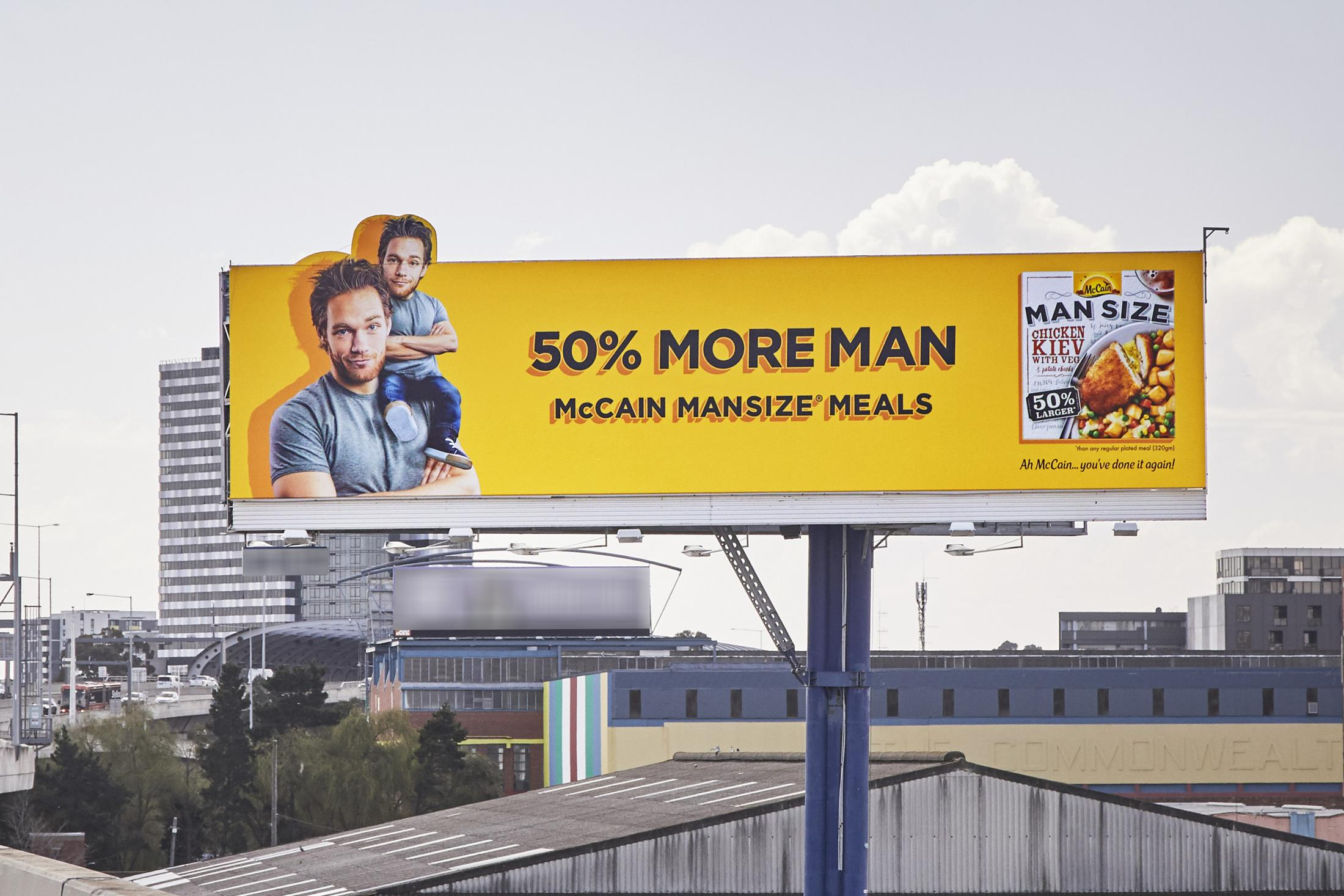 McCain Foods Outdoor Ad - 50% More Man - Main