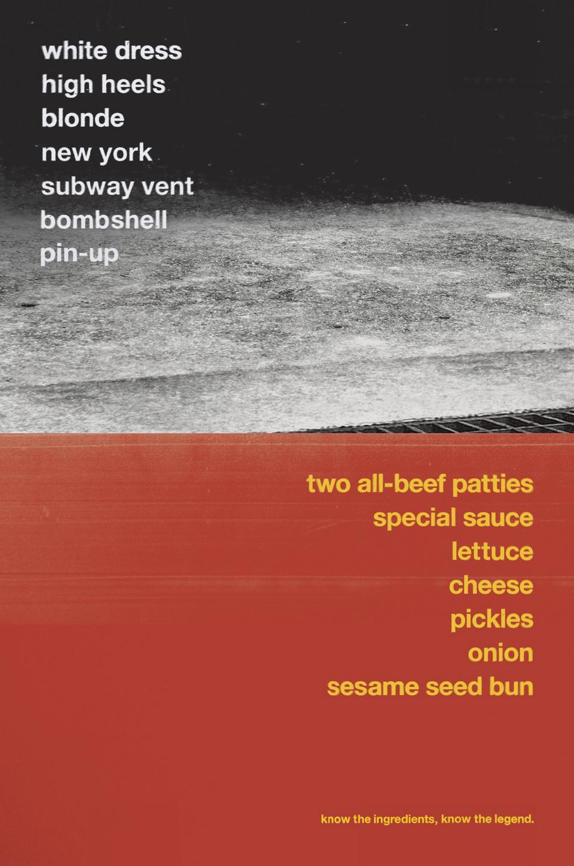 McDonald's Outdoor Ad -  Big Mac Legends, Marylin