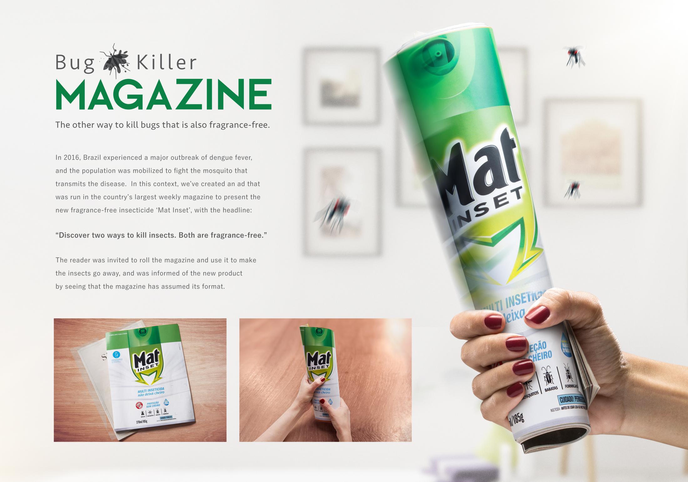 Mat Insect Print Ad - Bug Killer Magazine