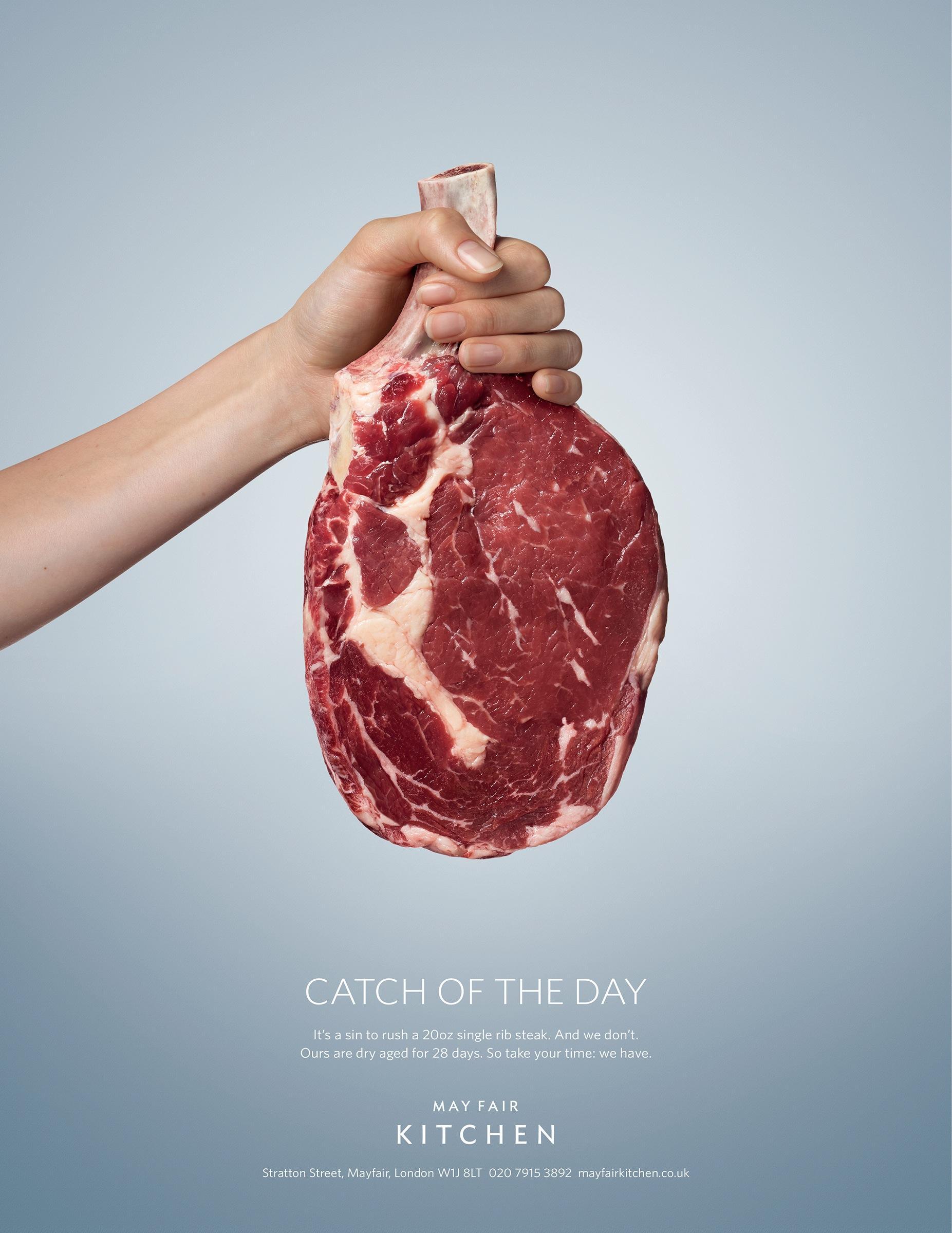 May Fair Kitchen Print Advert By Saatchi & Saatchi: Steak   Ads of ...