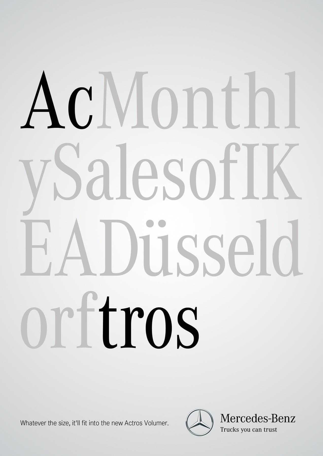 Mercedes Print Ad -  Size, 3