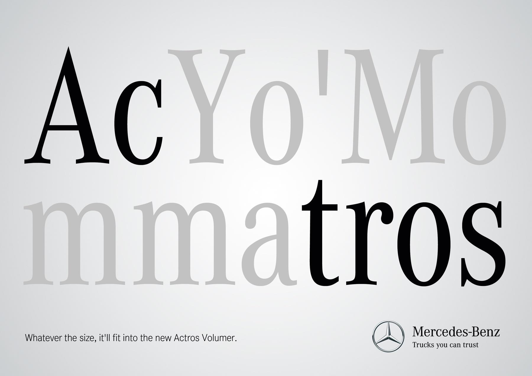Mercedes Print Ad -  Size, 4
