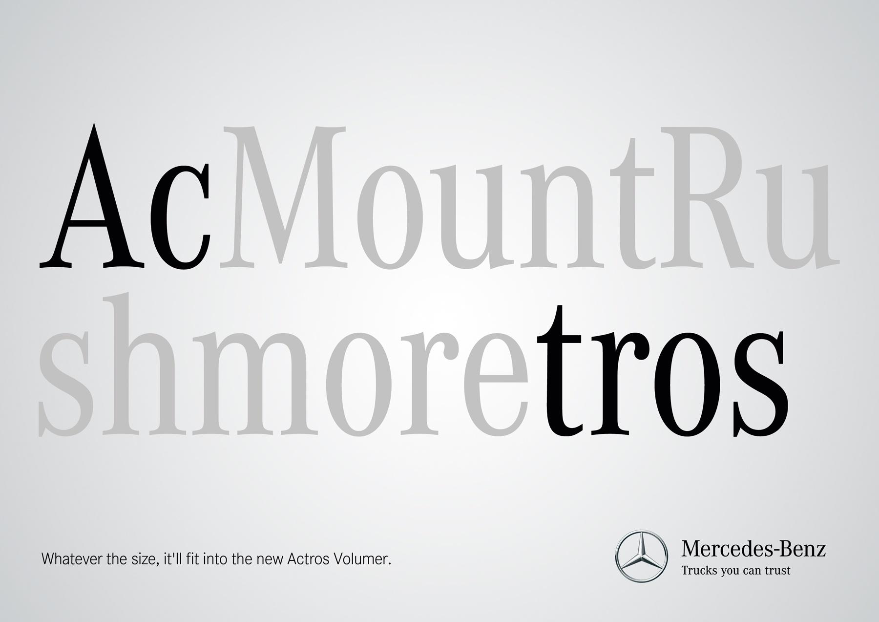 Mercedes Print Ad -  Size, 5