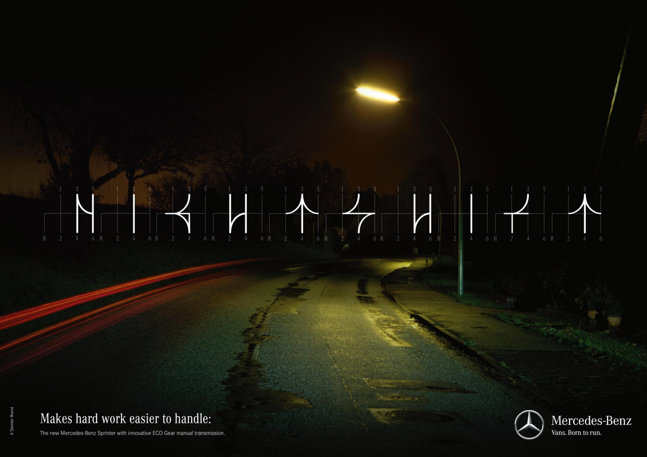 Mercedes Print Ad -  Shiftography - Nightshift