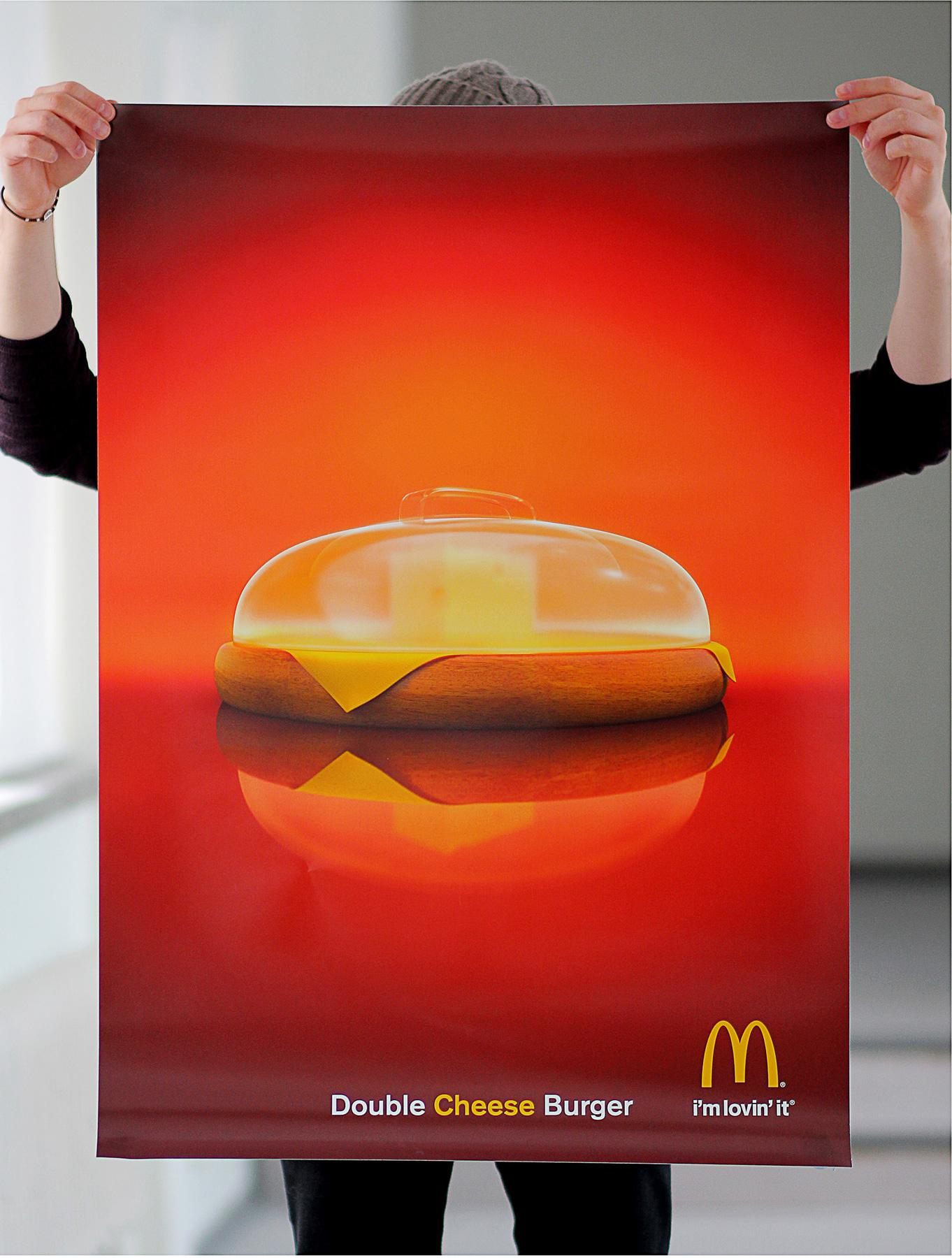 McDonald's Print Ad -  Double cheese burger