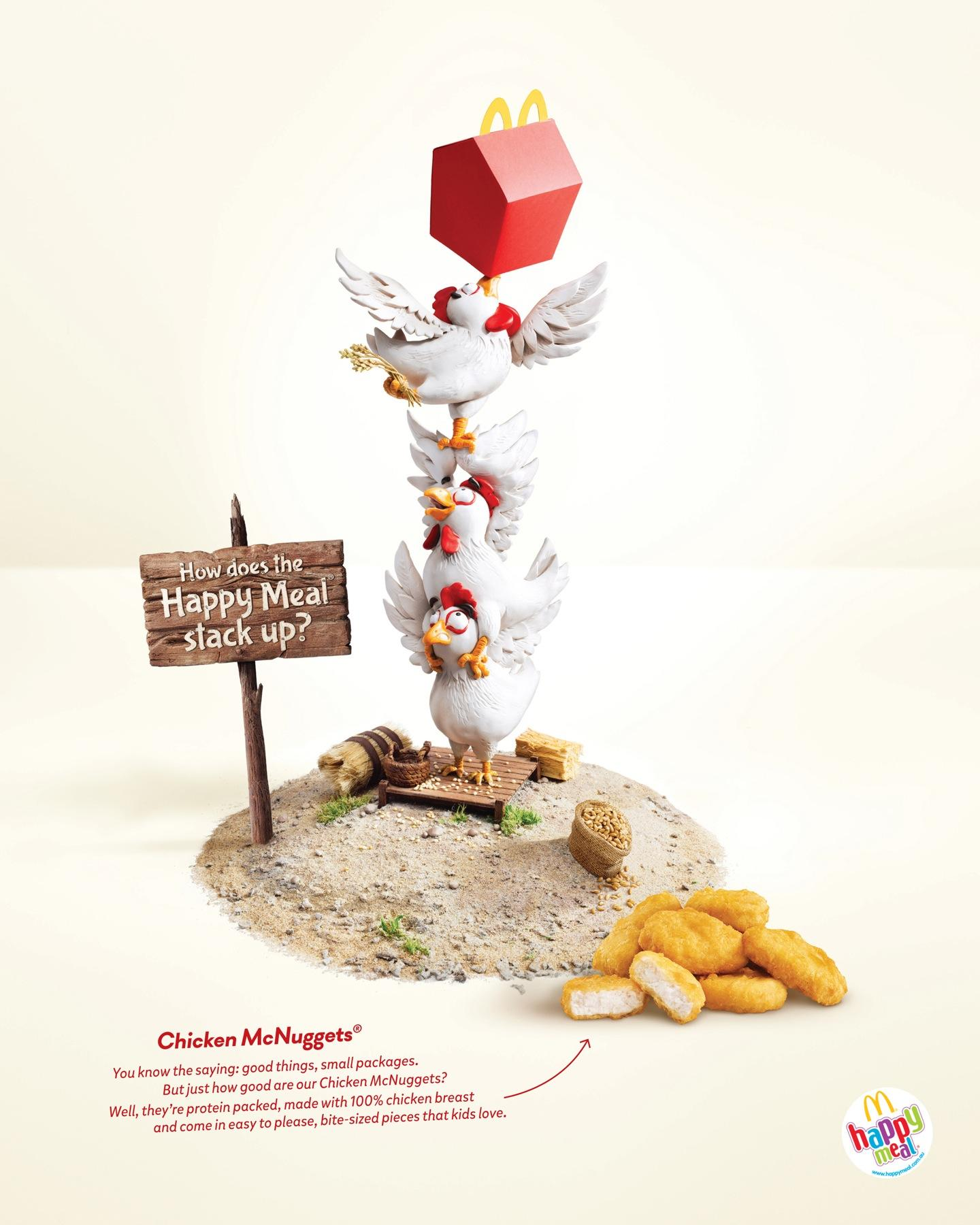 McDonald's Print Ad -  Happy Meal Chicken McNuggets