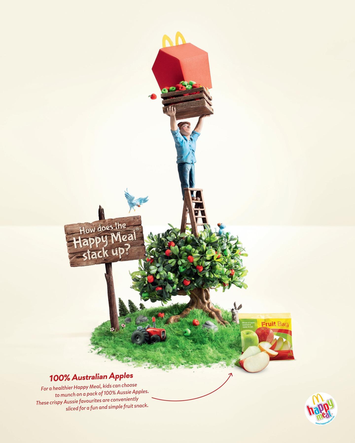 McDonald's Print Ad -  Happy Meal Apples