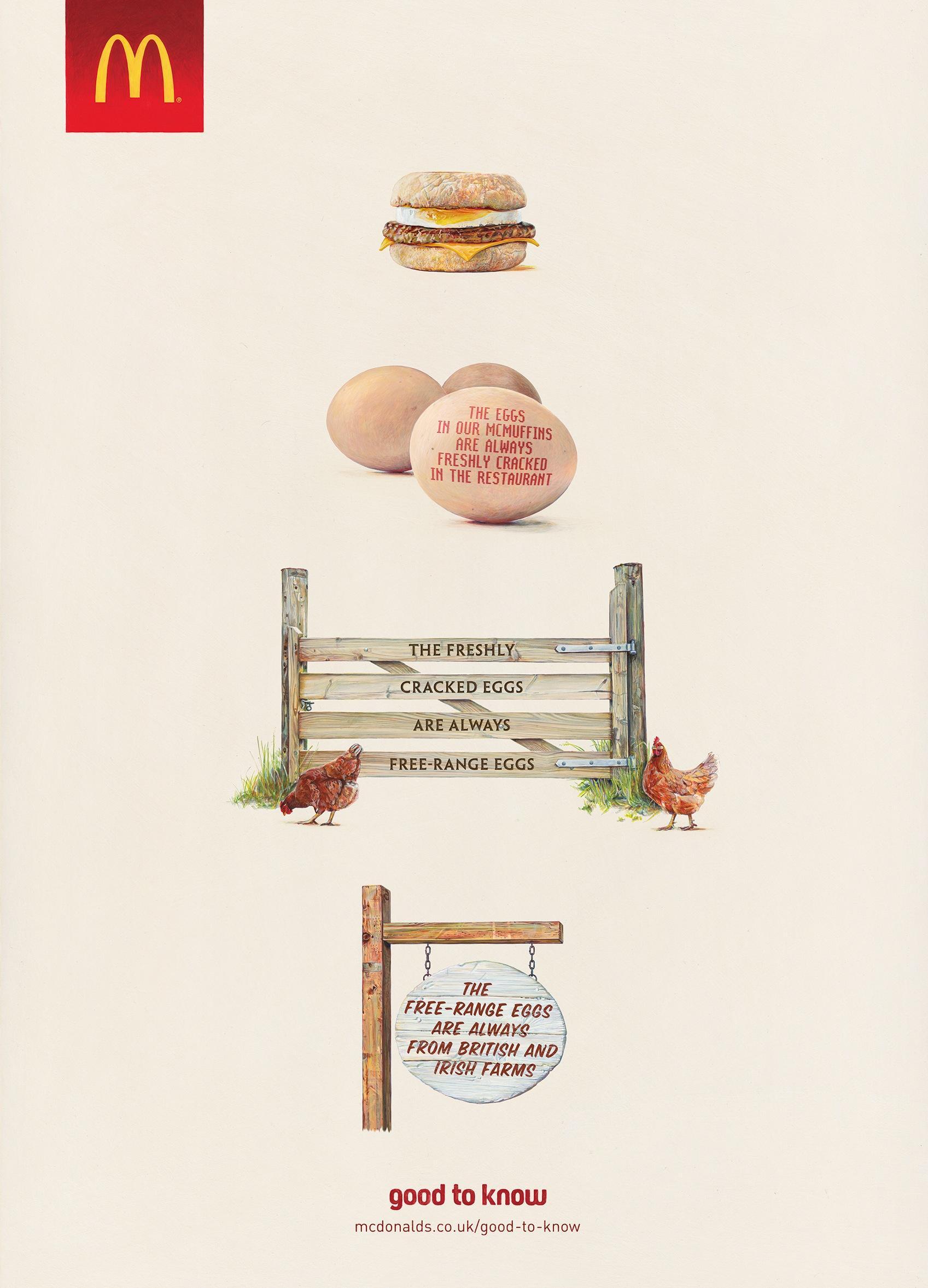 mcdonald u0026 39 s print advert by leo burnett  egg