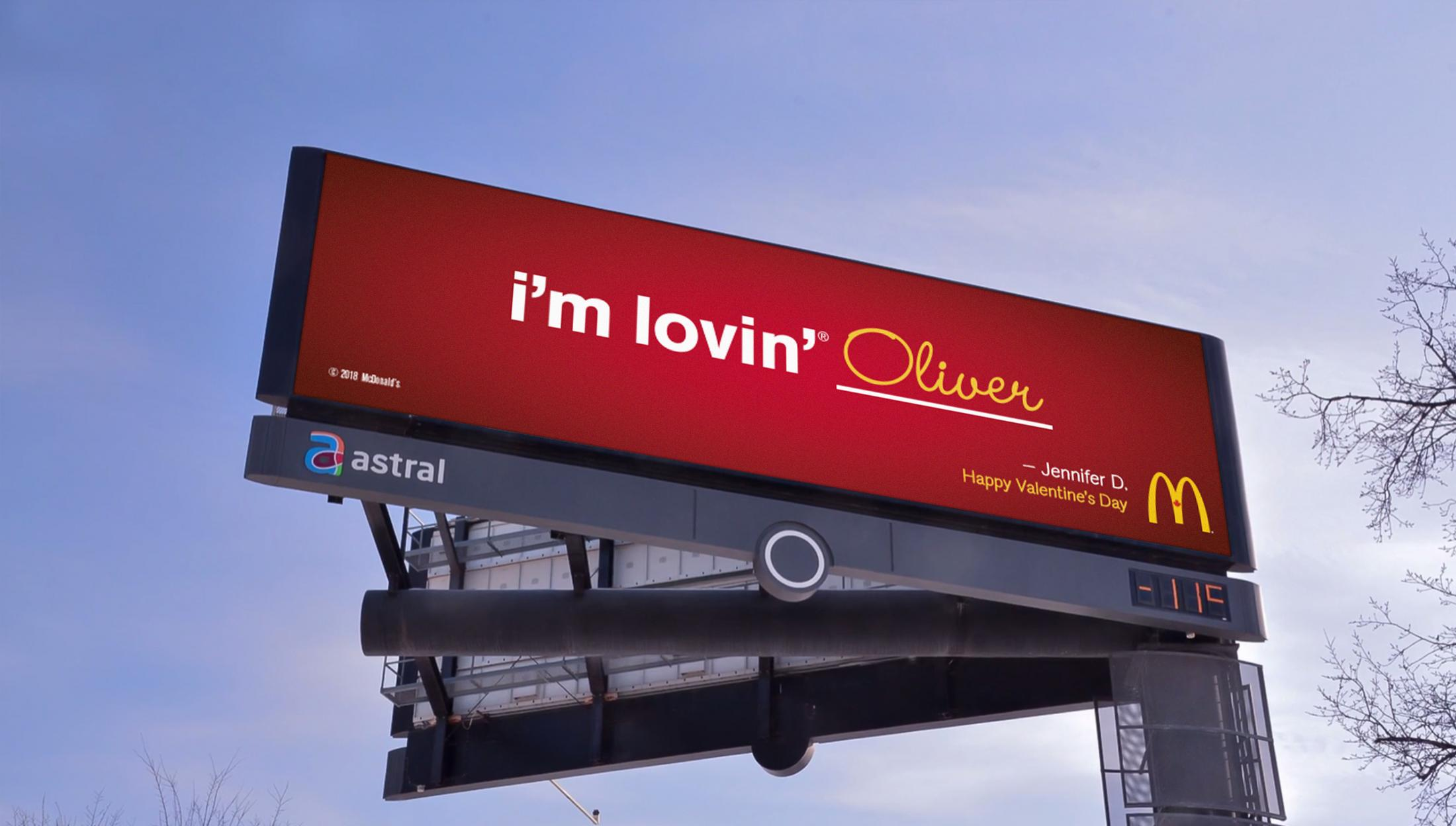 McDonald's Outdoor Ad - I'm lovin' ____