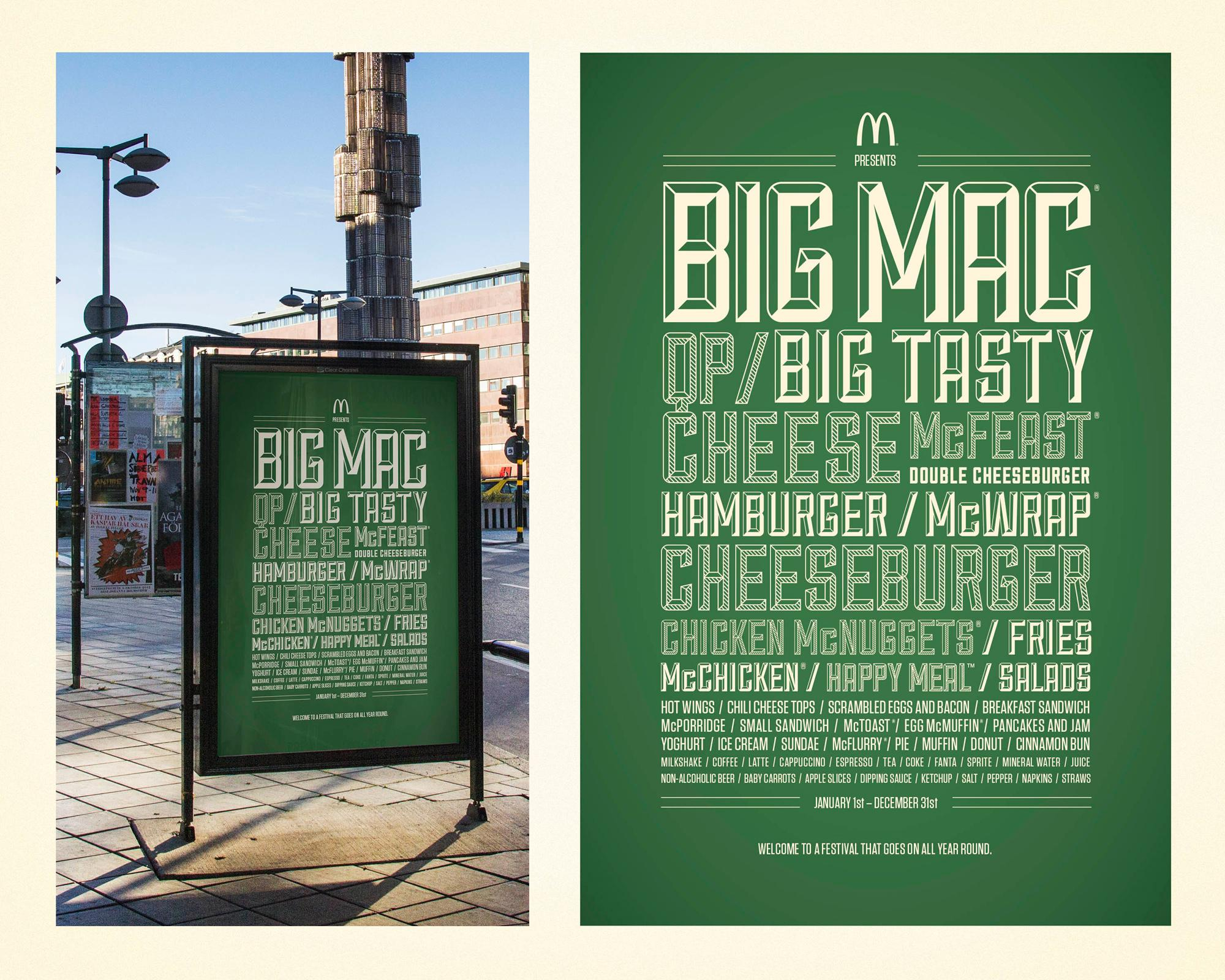 McDonald's Outdoor Ad -  Festival