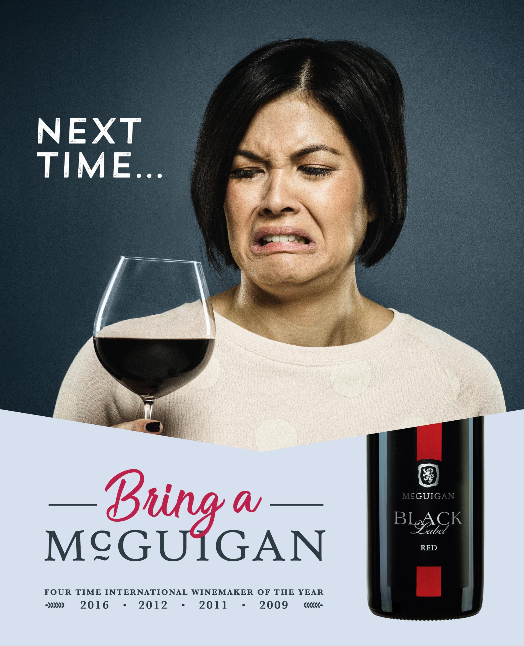 McGuigan Wines Print Ad - Awkward Moments, 2
