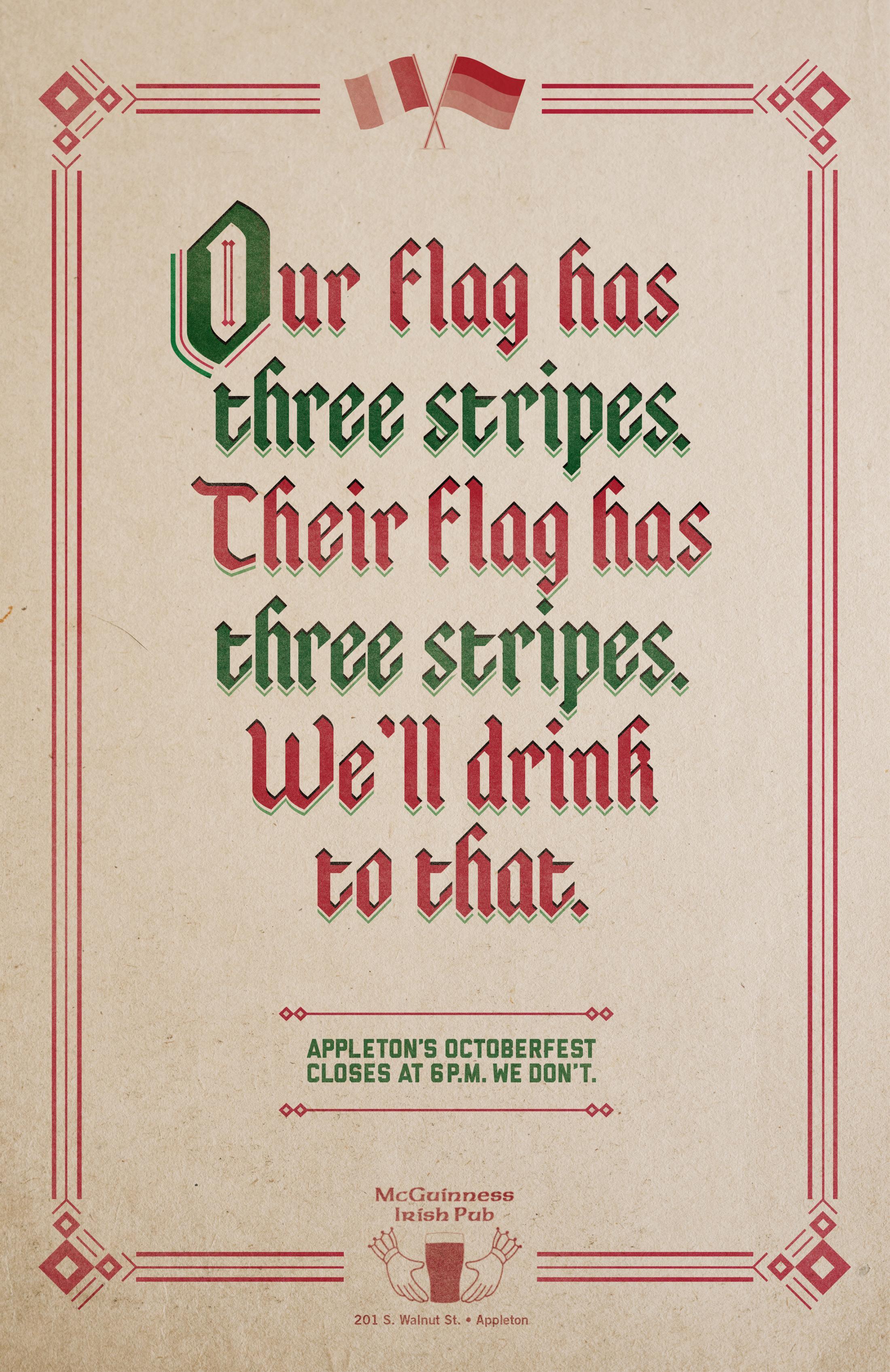 McGuinness Irish Pub Outdoor Ad - Three Stripes