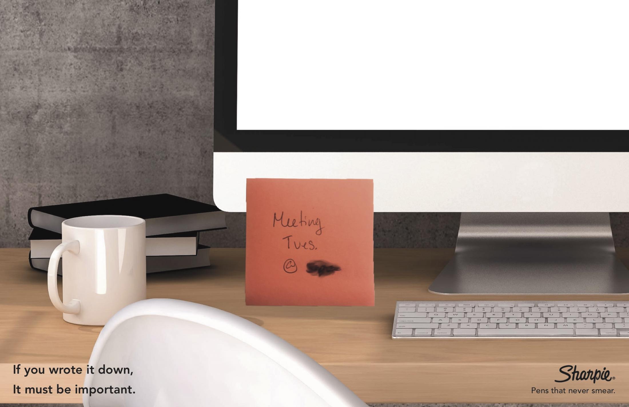Sharpie Print Ad - Meeting Reminder