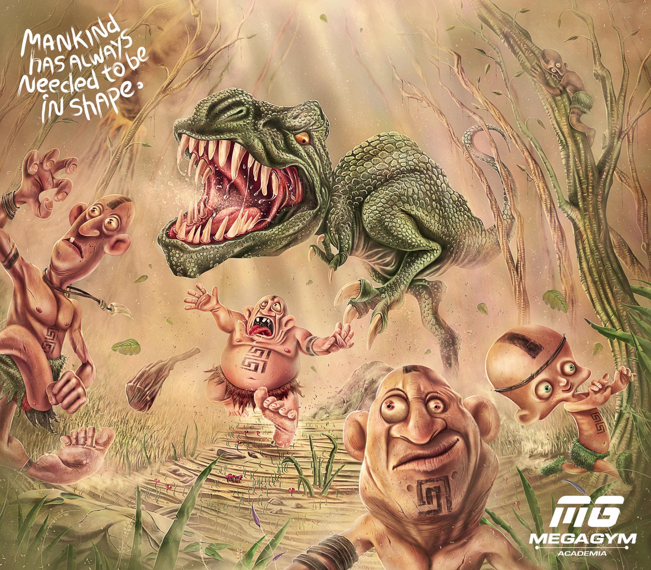 Mega Gym Print Ad -  Dinosaur