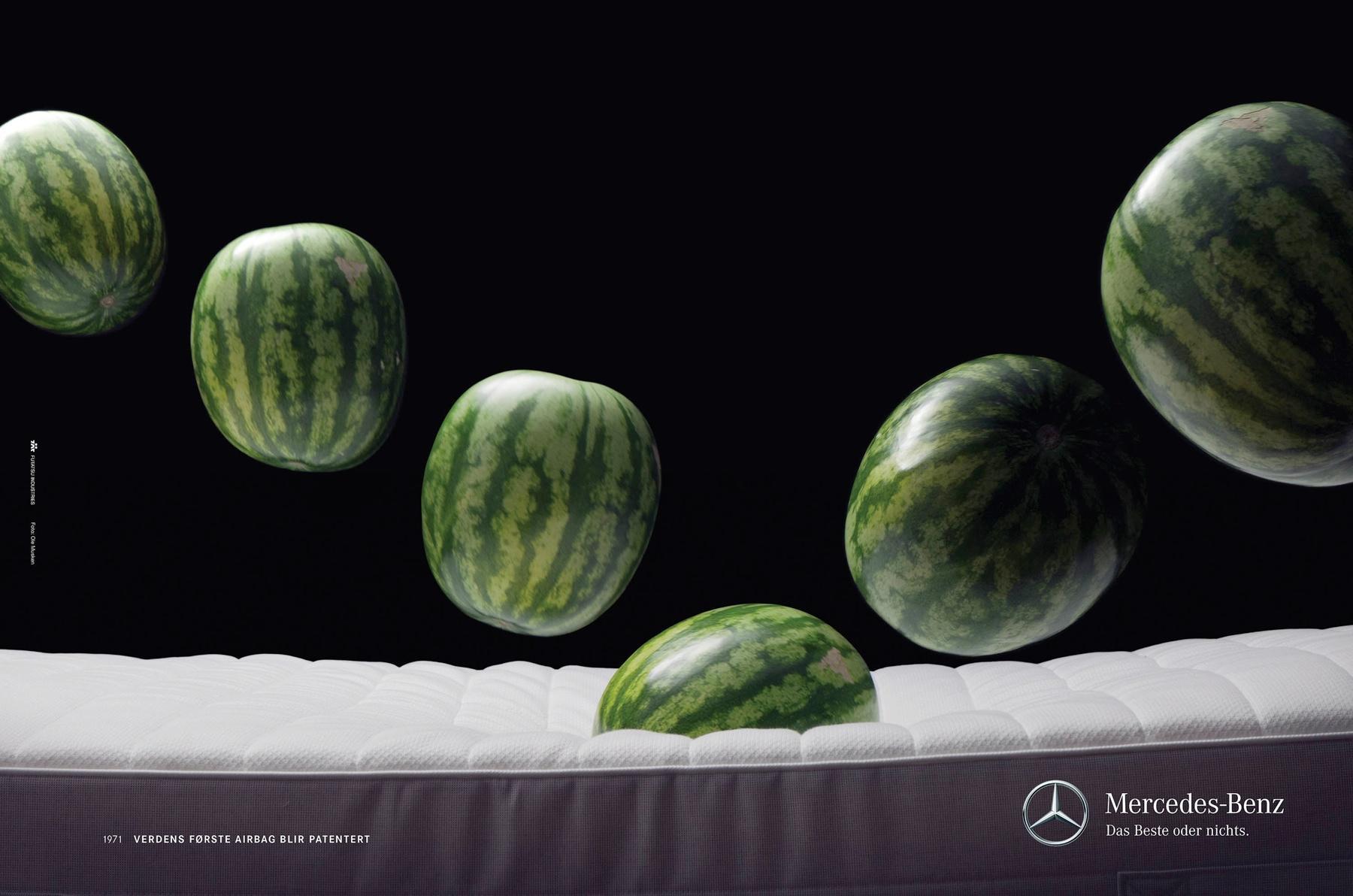 Mercedes Print Ad -  Melon