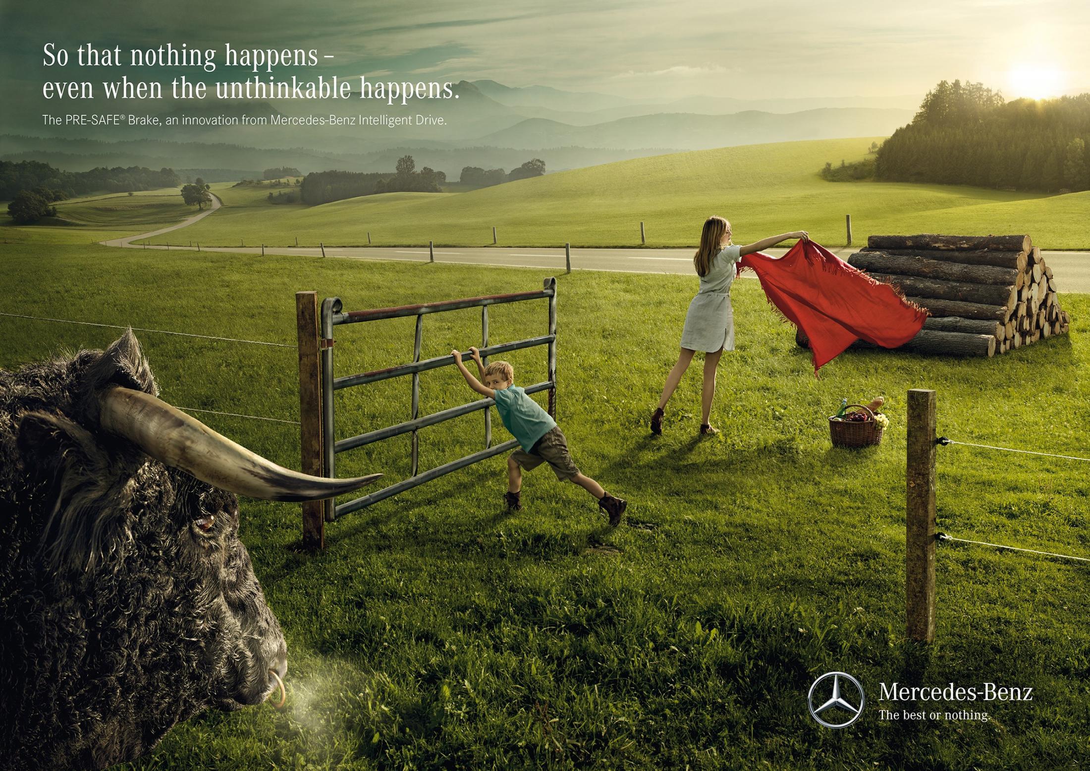 Mercedes Print Ad -  Bull
