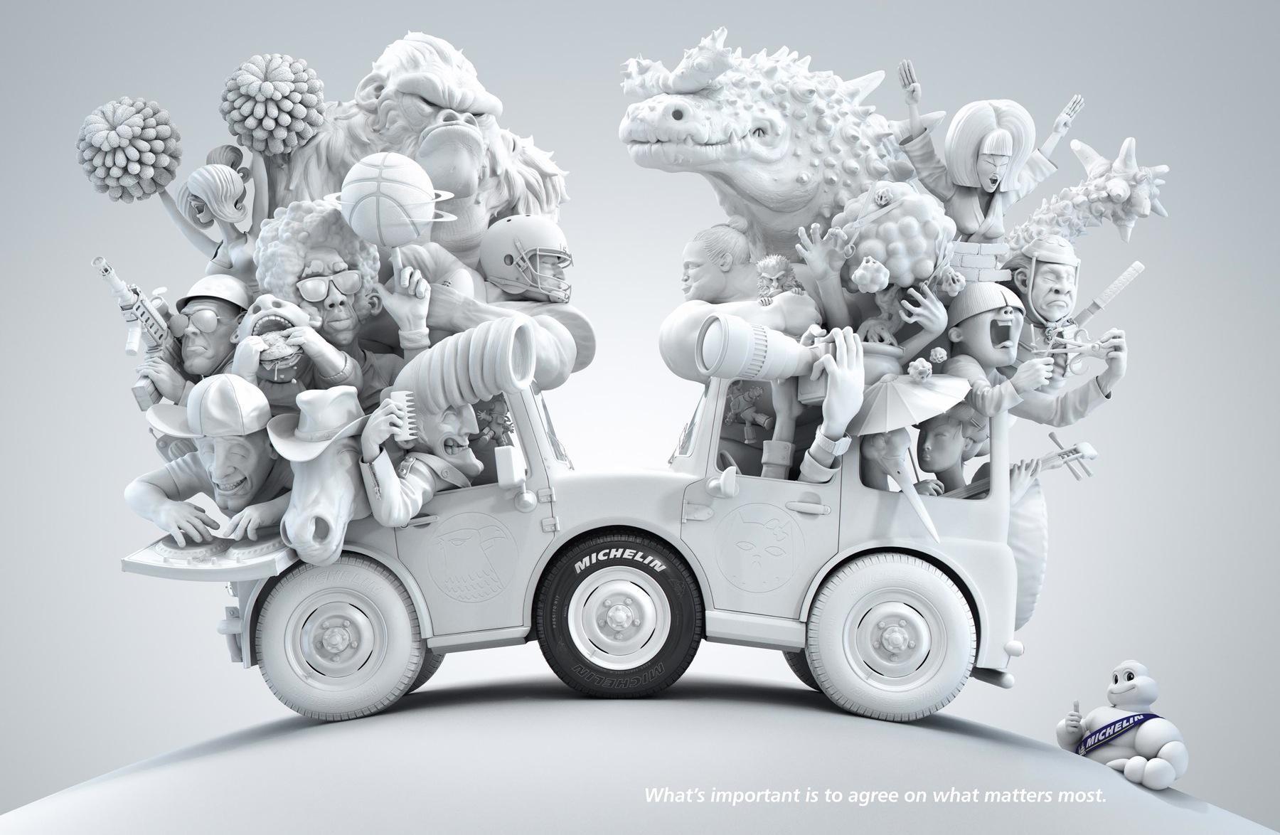 Michelin Print Ad -  USA - Japan