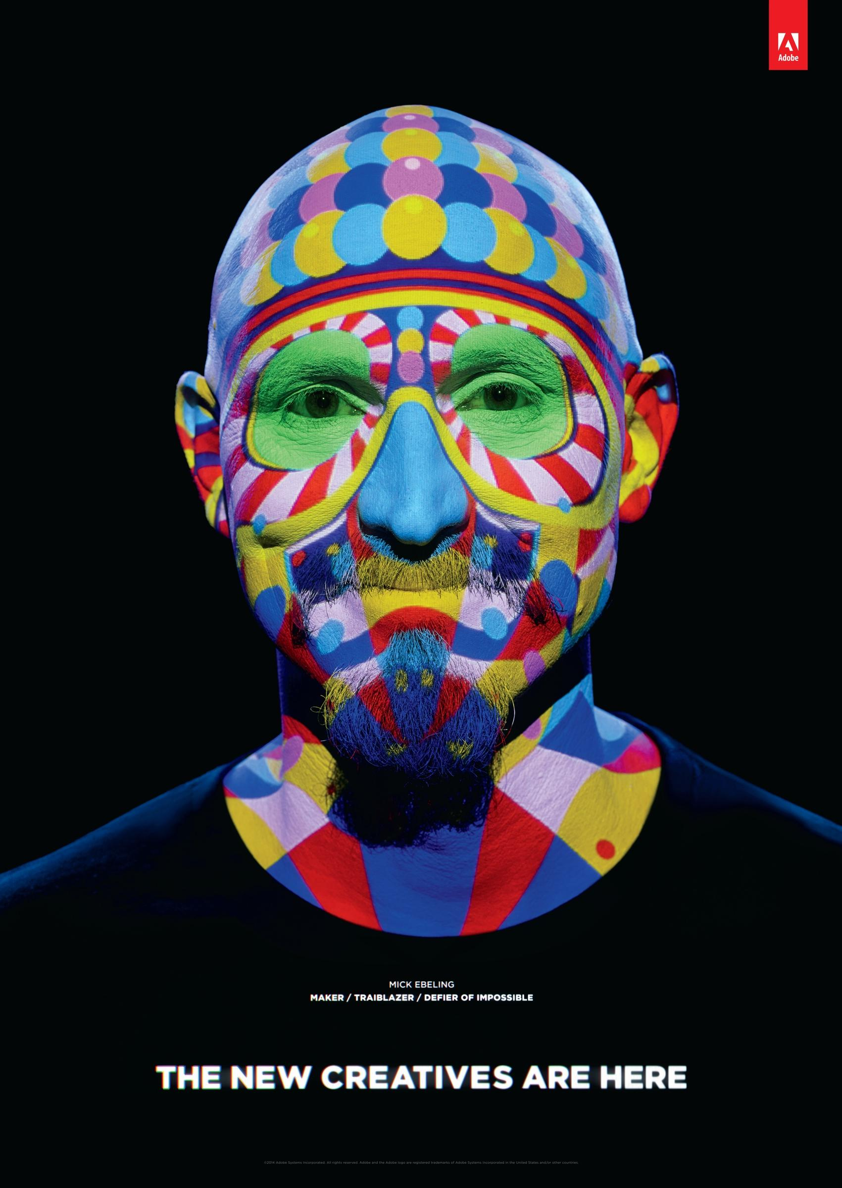 Adobe Print Ad -  Welcome to Cannes, Mick Ebeling